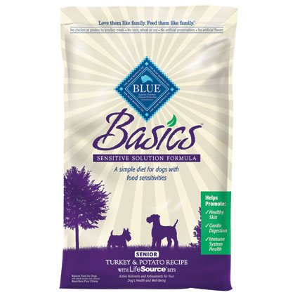 Blue Buffalo Basics Senior Dry Dog Food Turkey & Potato Recipe 24 lb bag