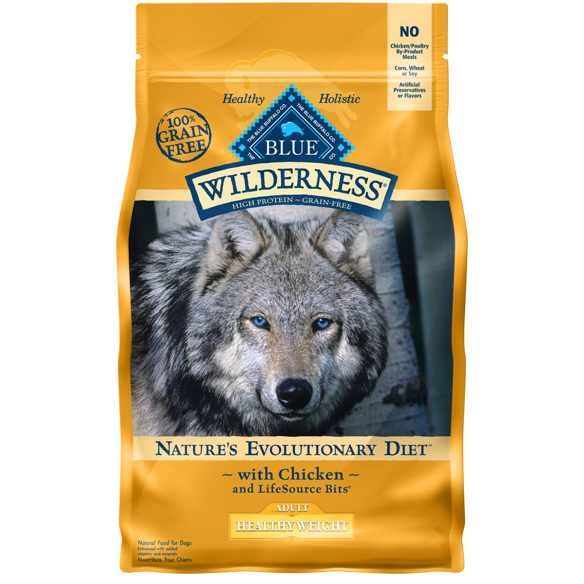 Blue Buffalo Blue Wilderness Adult Healthy Weight Chicken Recipe Dry Dog Food, 4.5 lbs.