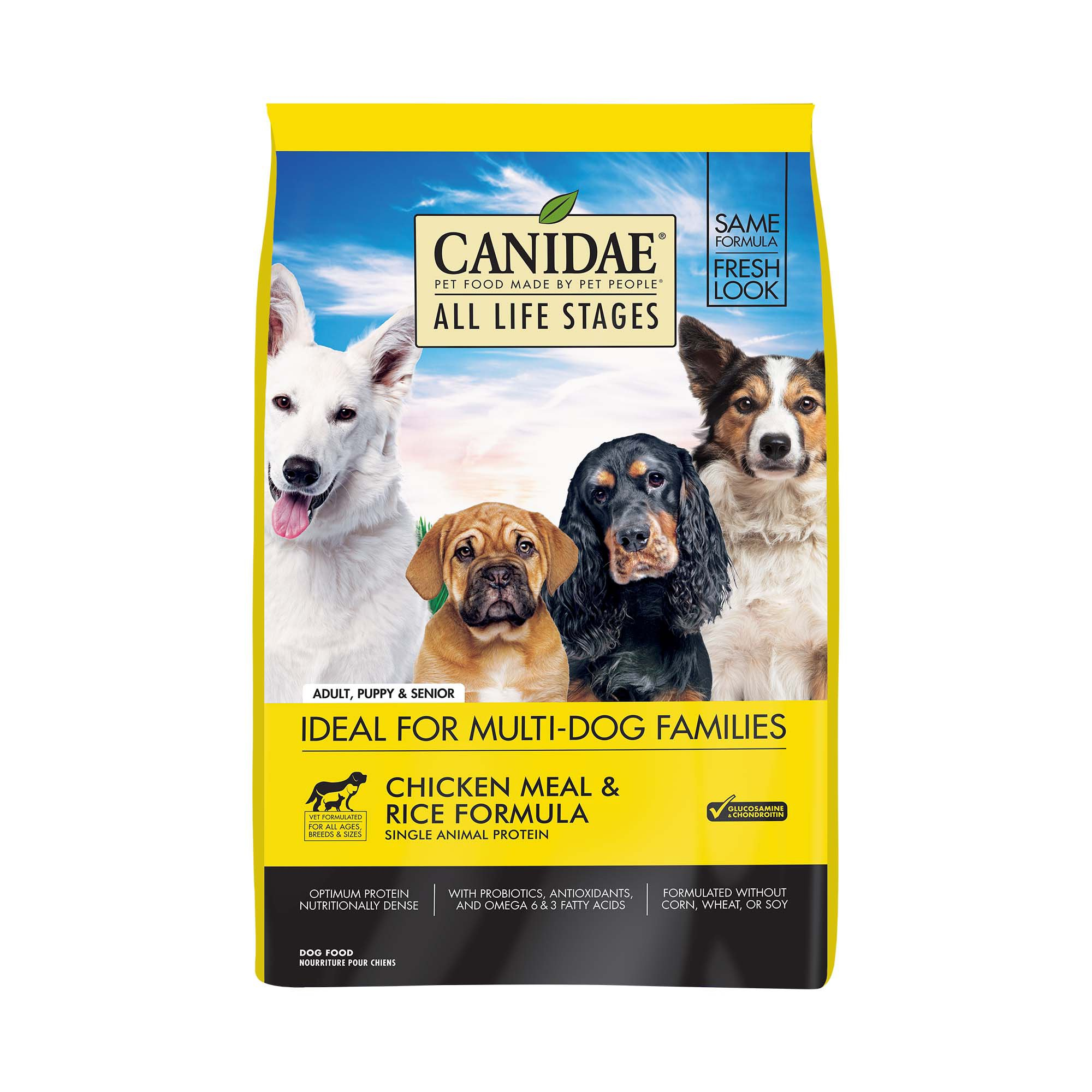 CANIDAE All Life Stages Chicken Meal & Rice Formula Dry Dog Food, 5 lbs.