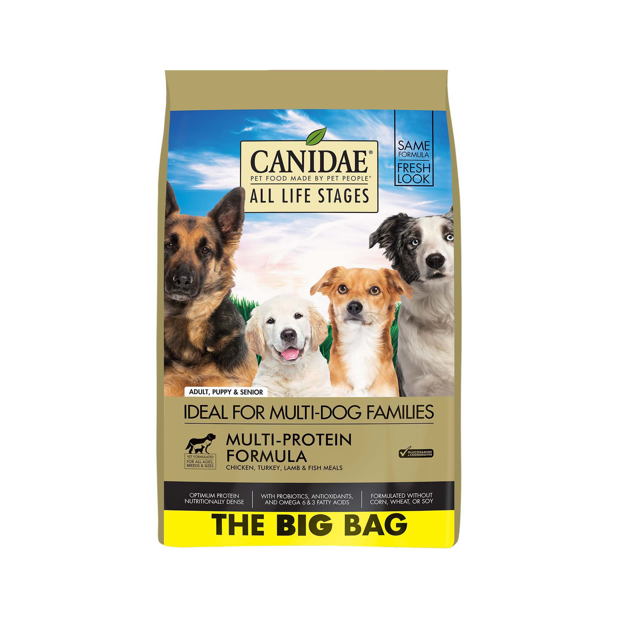 CANIDAE All Life Stages Chicken, Turkey, Lamb & Fish Meals Formula Dry Dog Food, 44 lbs.
