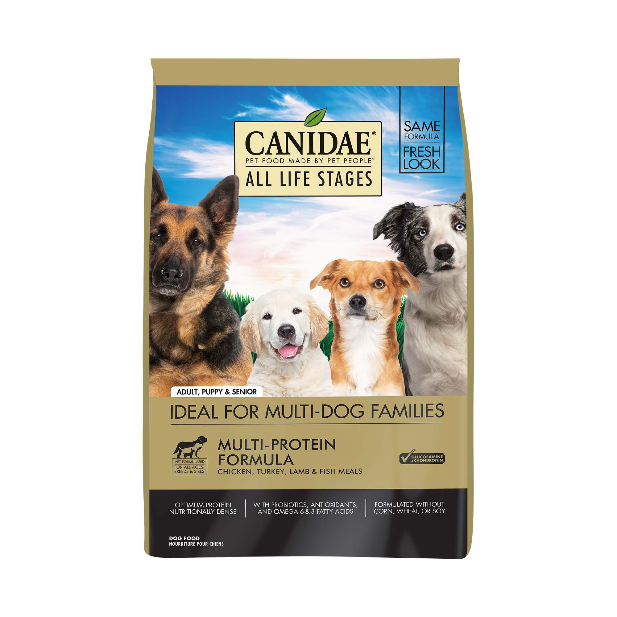 CANIDAE All Life Stages Chicken, Turkey, Lamb & Fish Meals Formula Dry Dog Food, 5 lbs.