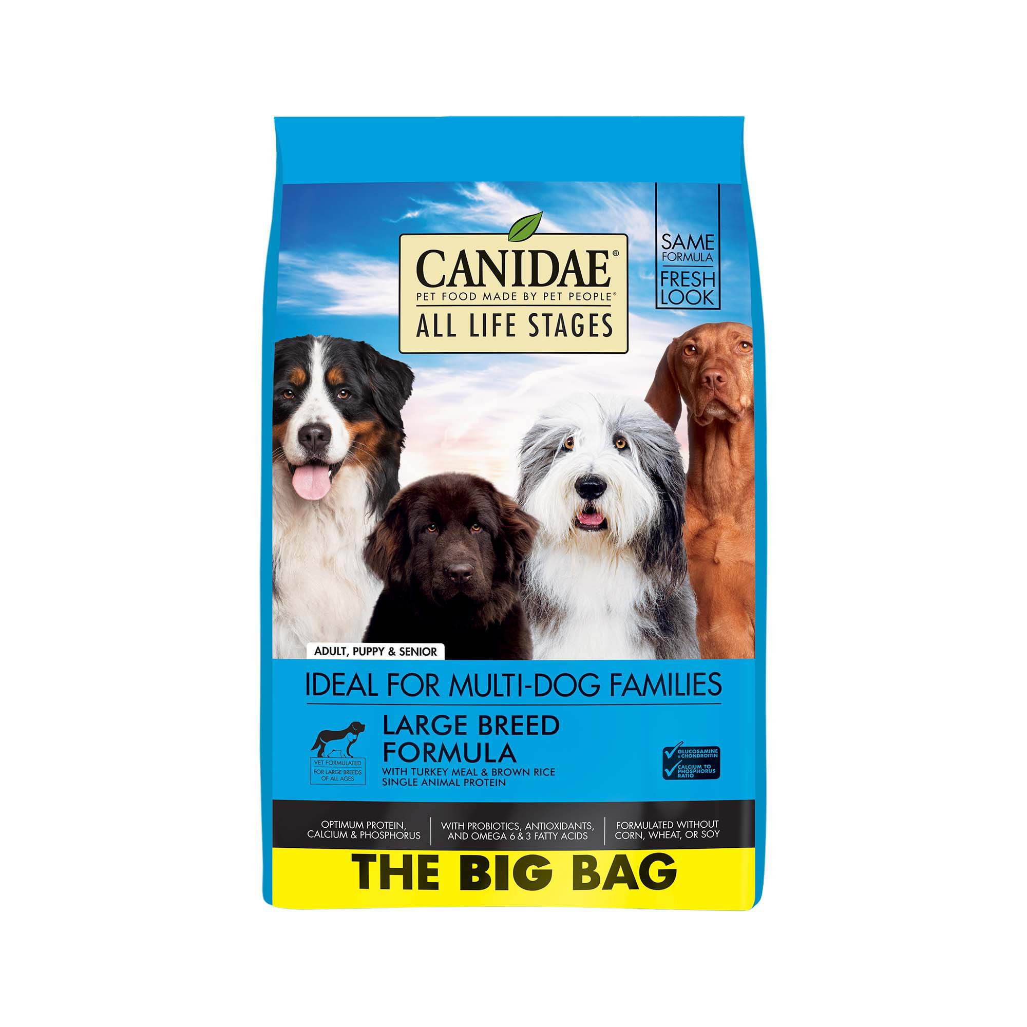 CANIDAE All Life Stages Large Breed Turkey Meal & Brown Rice Formula Dry Dog Food, 44 lbs.