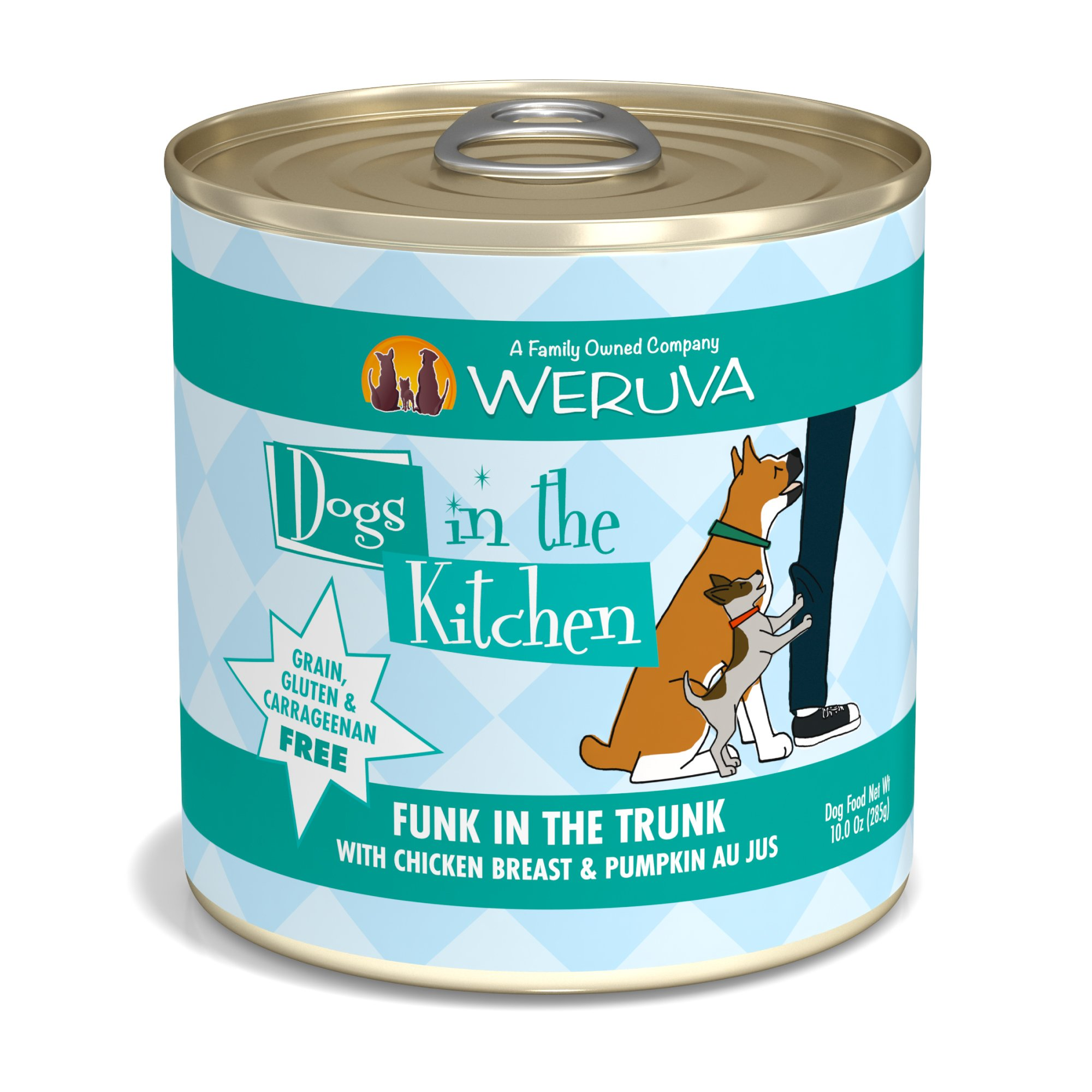 Dogs in the Kitchen Funk in the Trunk with Chicken Breast & Pumpkin Au Jus Wet Dog Food, 10oz., Case of 12, 12 X 10 OZ