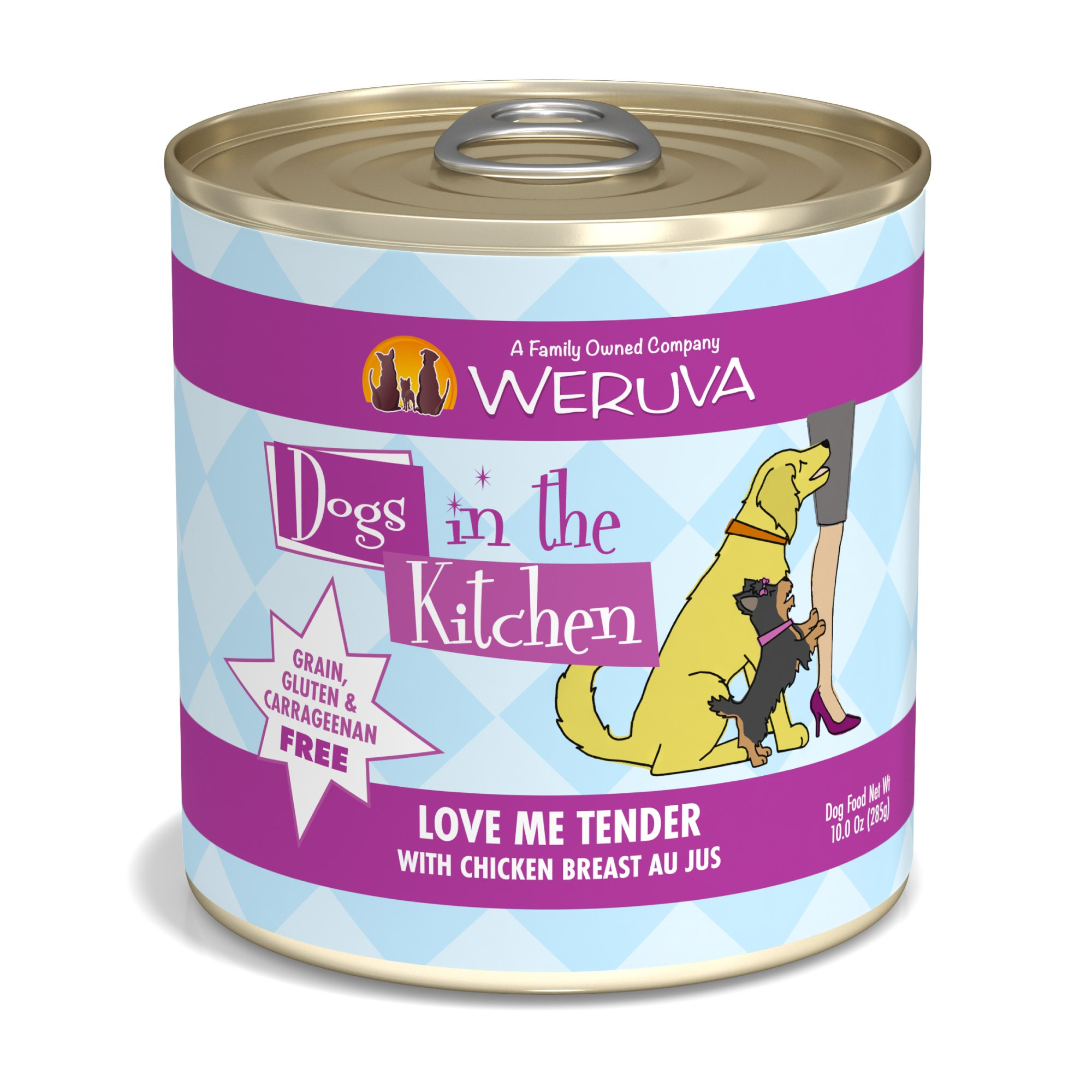 Dogs in the Kitchen Love Me Tender with Chicken Breast Au Jus Wet Dog Food, 10oz., Case of 12, 12 X 10 OZ