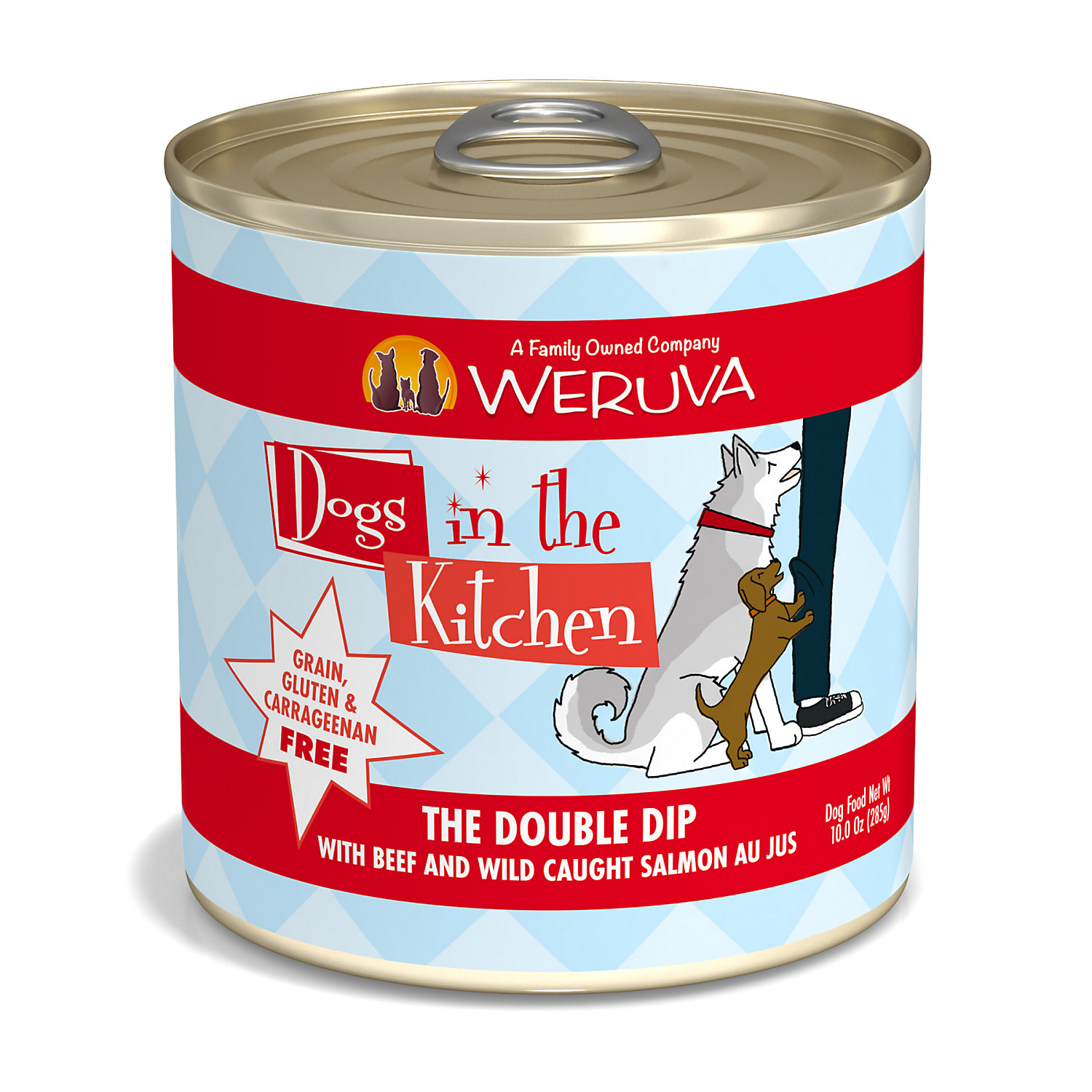 Dogs in the Kitchen The Double Dip with Beef & Wild Caught Salmon Au Jus Wet Dog Food