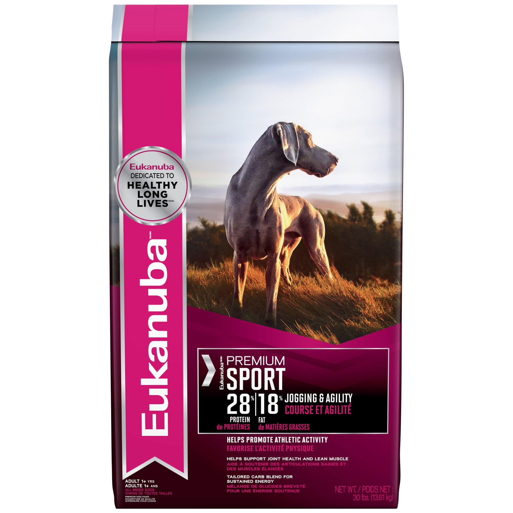 Eukanuba Premium Sport 28/18 Condition Adult Dry Dog Food, 30 lbs.