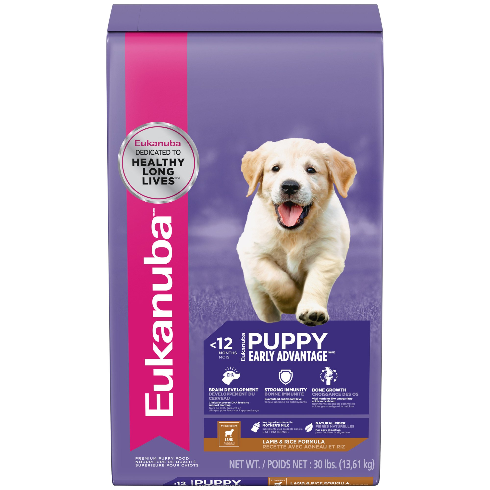 Eukanuba Puppy Early Advantage Lamb & Rice Dry Dog Food, 30 lbs.