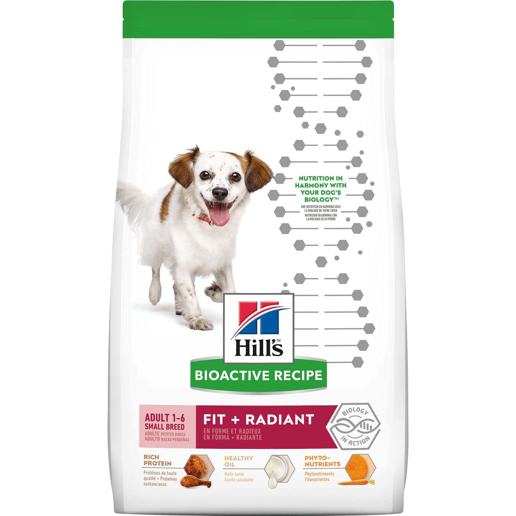 Hill's Bioactive Recipe Fit + Radiant Chicken & Barley Adult Small Breed Dry Dog Food, 3.5 lbs.