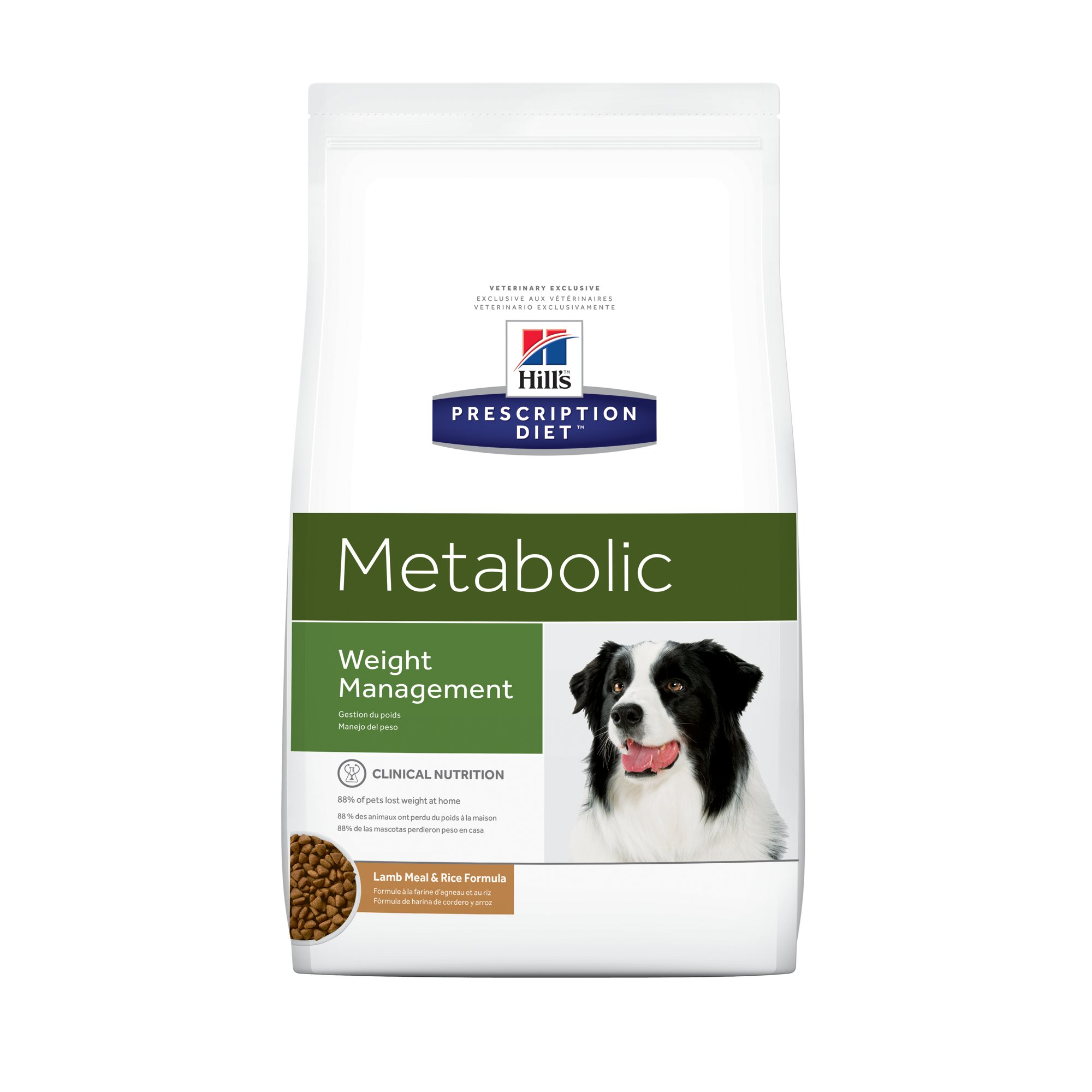Hill's Prescription Diet Metabolic Weight Management Lamb Meal & Rice Formula Dry Dog Food, 6 lbs., Bag