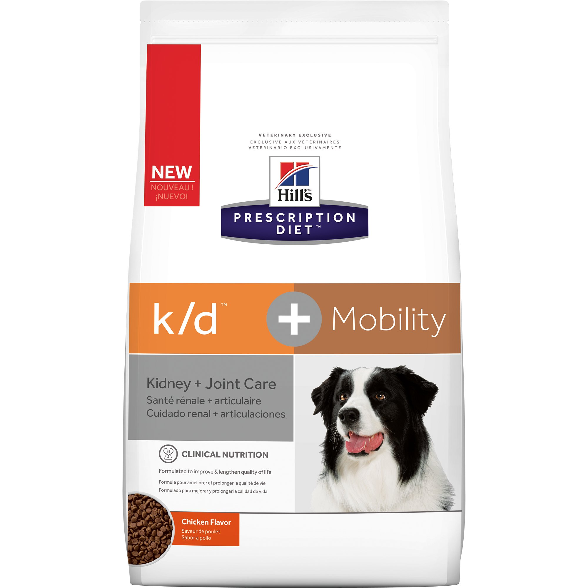 Hill's Prescription Diet k/d Kidney Care + Mobility Care Chicken & Vegetable Stew Dry Dog Food, 8.5 lbs.