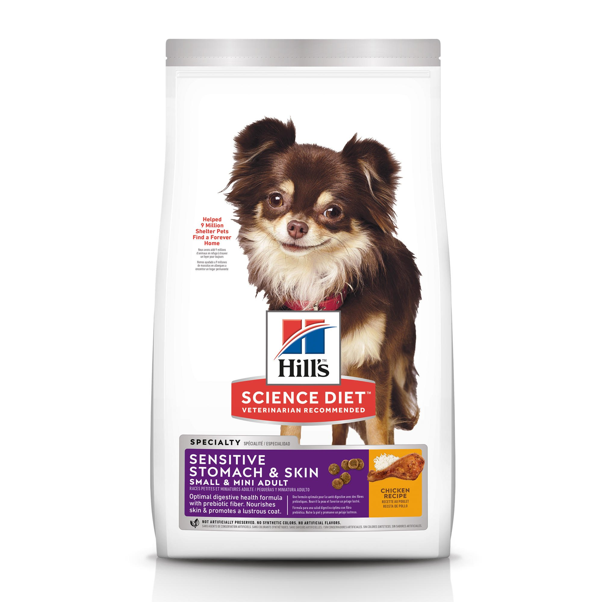 Hill's Science Diet Adult Sensitive Stomach & Skin Small & Mini Chicken Recipe Dry Dog Food, 15 lbs., Bag