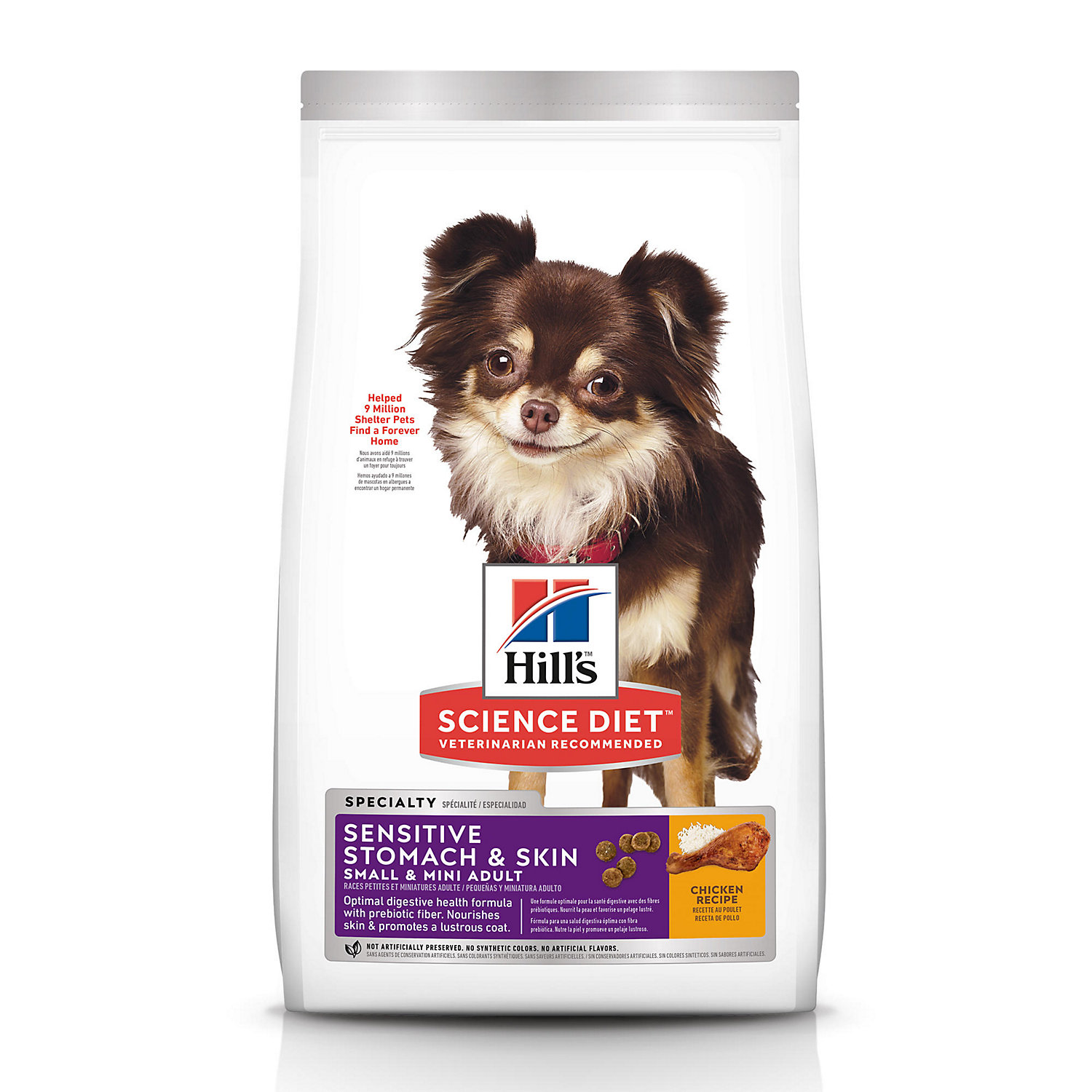 Hill's Science Diet Adult Sensitive Stomach & Skin Small & Mini Chicken Recipe Dry Dog Food