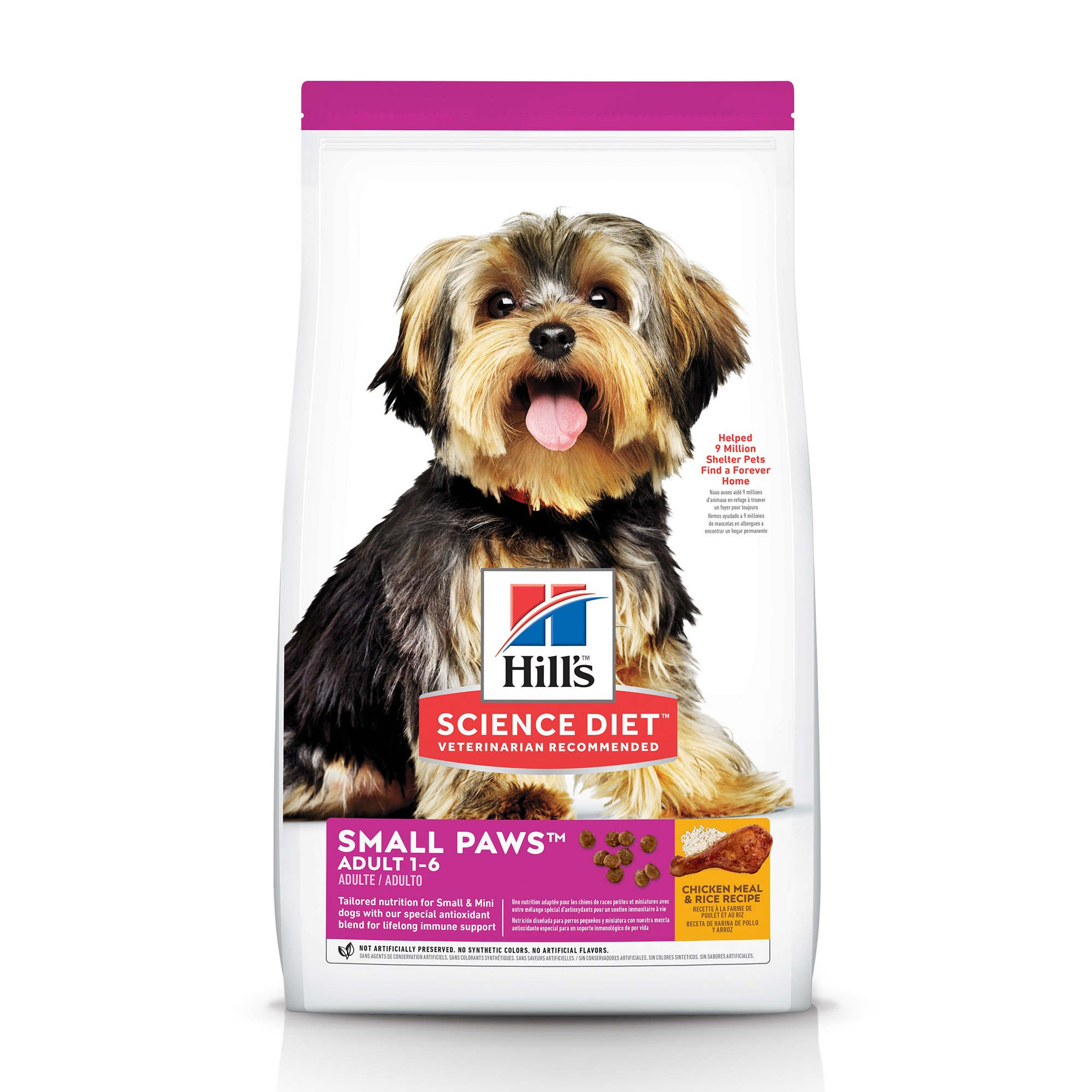 Hill's Science Diet Adult Small Paws Chicken Meal & Rice Recipe Dry Dog Food, 4.5 lbs.
