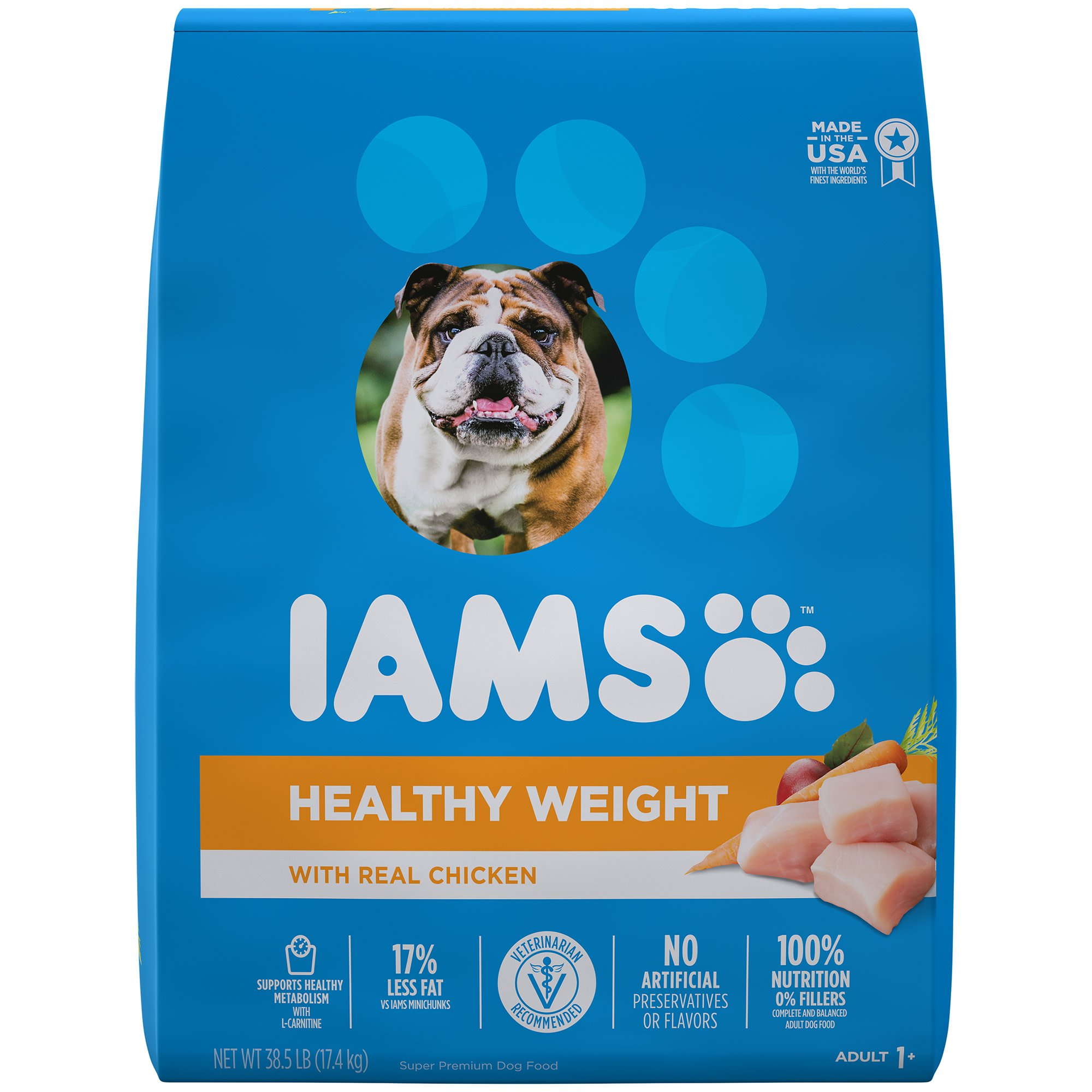 Iams ProActive Health Adult Healthy Weight Control with Real Chicken Dry Dog Food, 38.5 lbs.