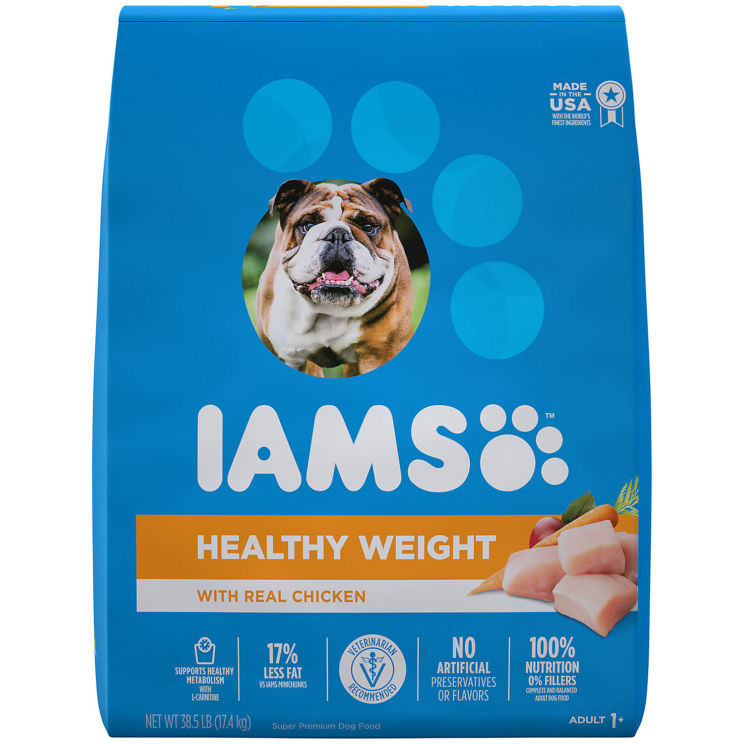 Iams ProActive Health Adult Healthy Weight Control with Real Chicken Dry Dog Food