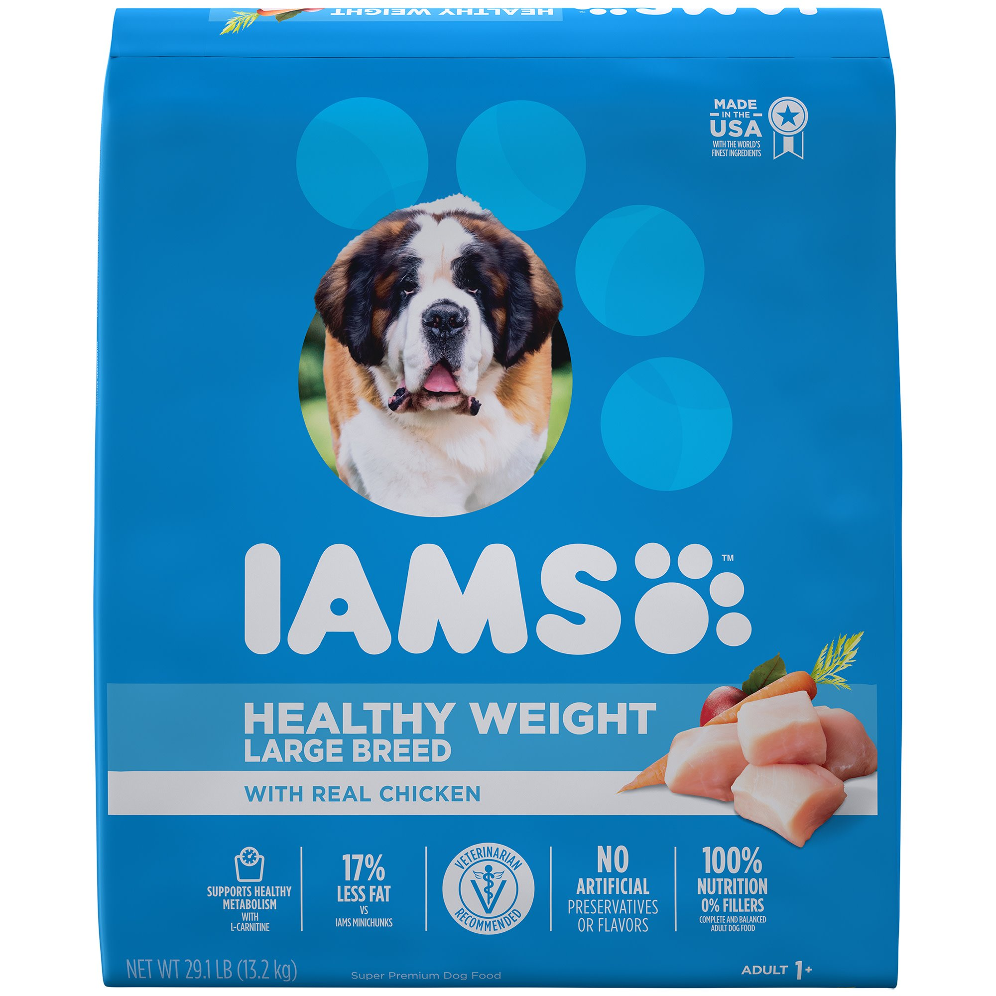 Iams ProActive Health Adult Healthy Weight Control with Real Chicken Large Breed Dry Dog Food, 29.1 lbs.