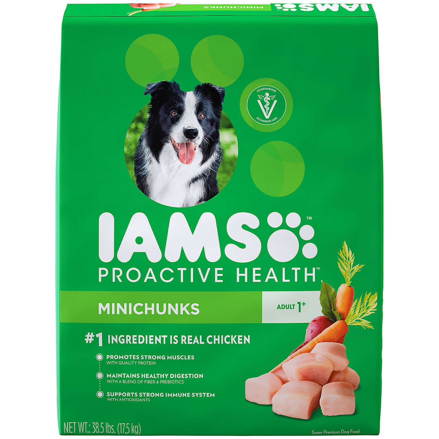 Iams ProActive Health Adult Minichunks Small Kibble High Protein with Real Chicken Dry Dog Food