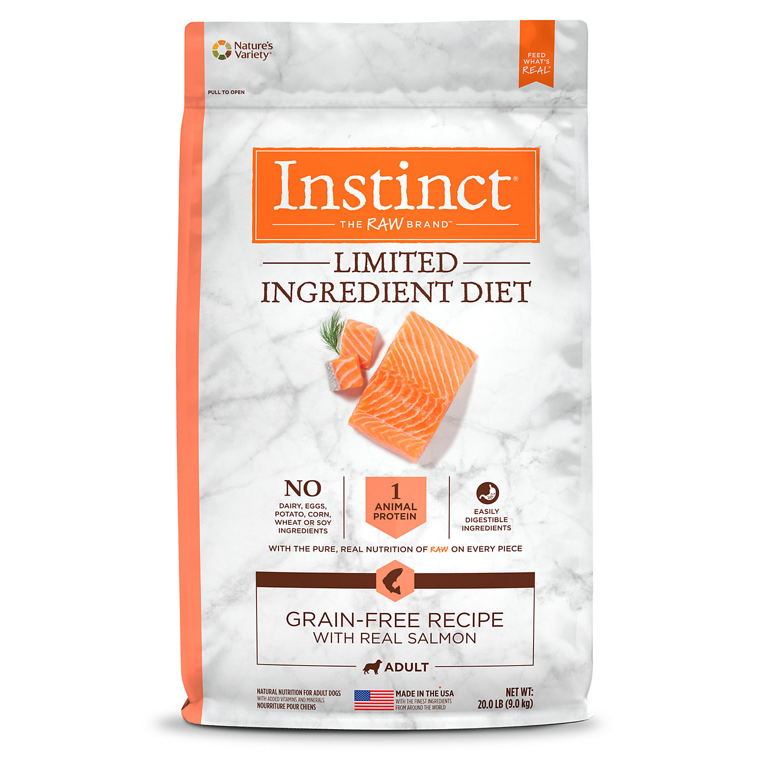 Instinct Limited Ingredient Diet Grain Free Recipe with Real Salmon Natural Dry Dog Food by Nature's Variety