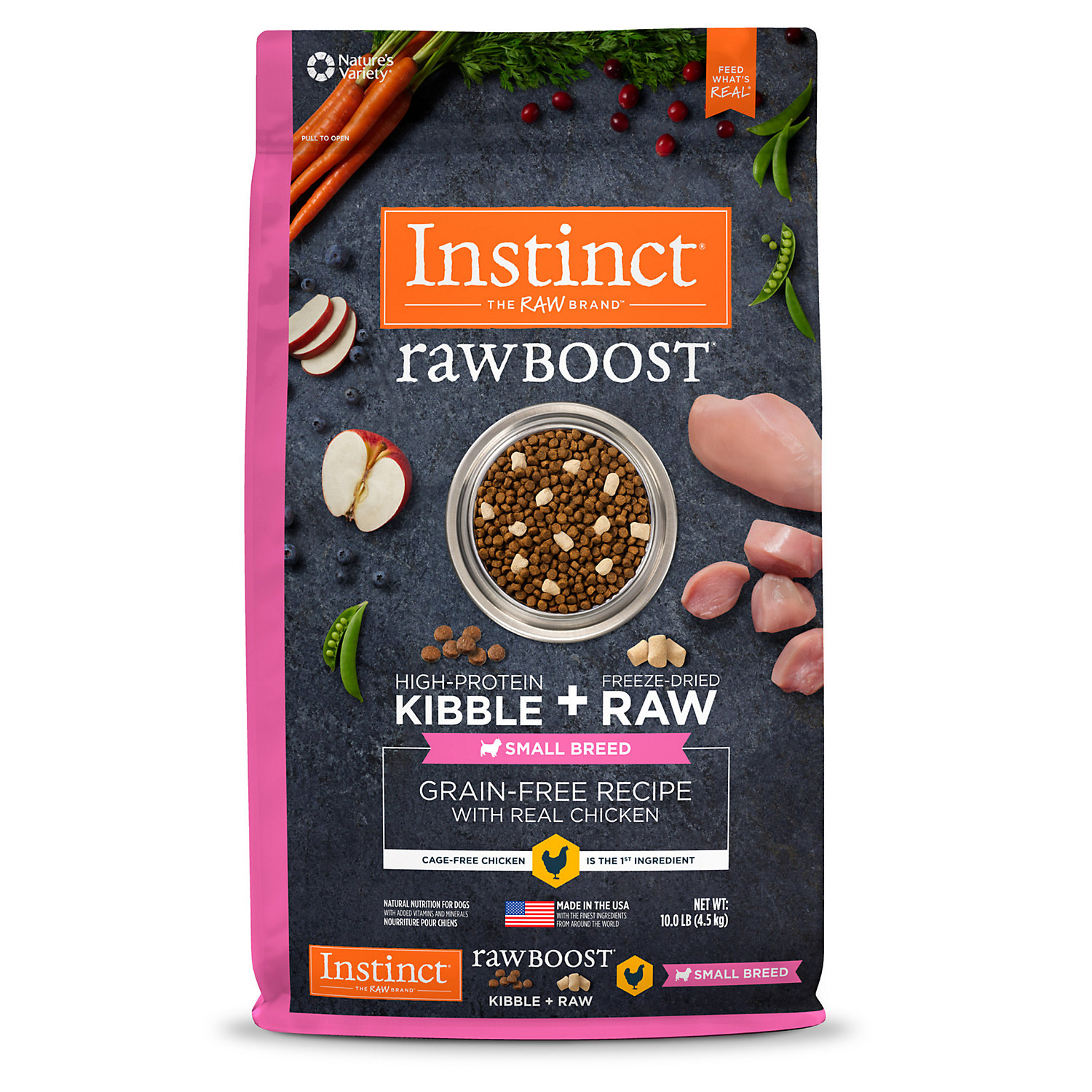 Instinct Raw Boost Small Breed Grain-Free Recipe with Real Chicken Natural Dry Dog Food by Nature's Variety