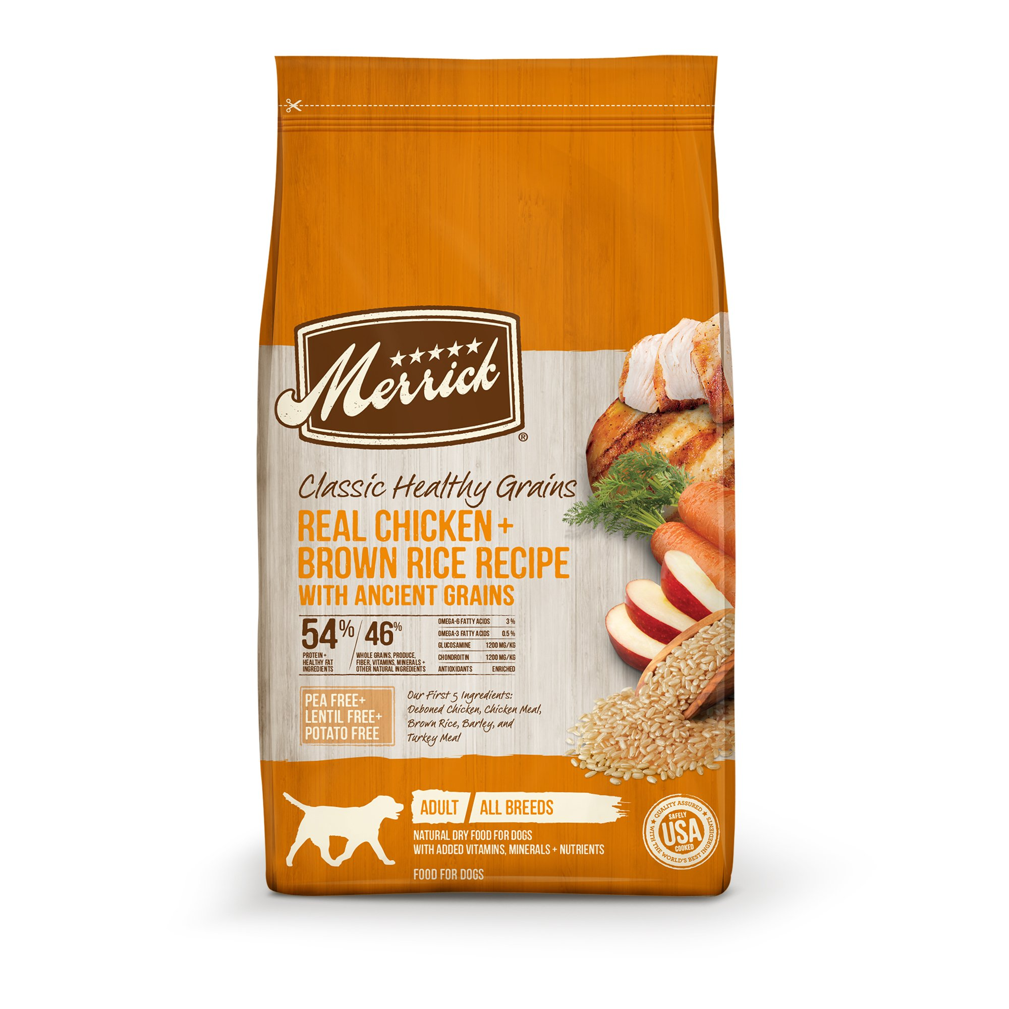 Merrick Classic Real Chicken + Green Peas with Ancient Grains Dry Dog Food, 12 lbs.