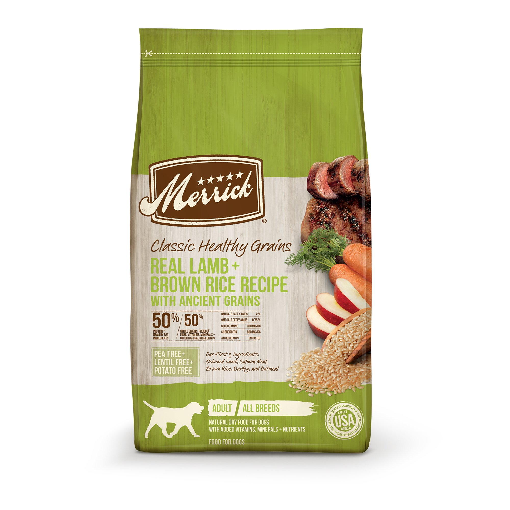 Merrick Classic Real Lamb + Green Peas with Ancient Grains Dry Dog Food, 4 lbs.