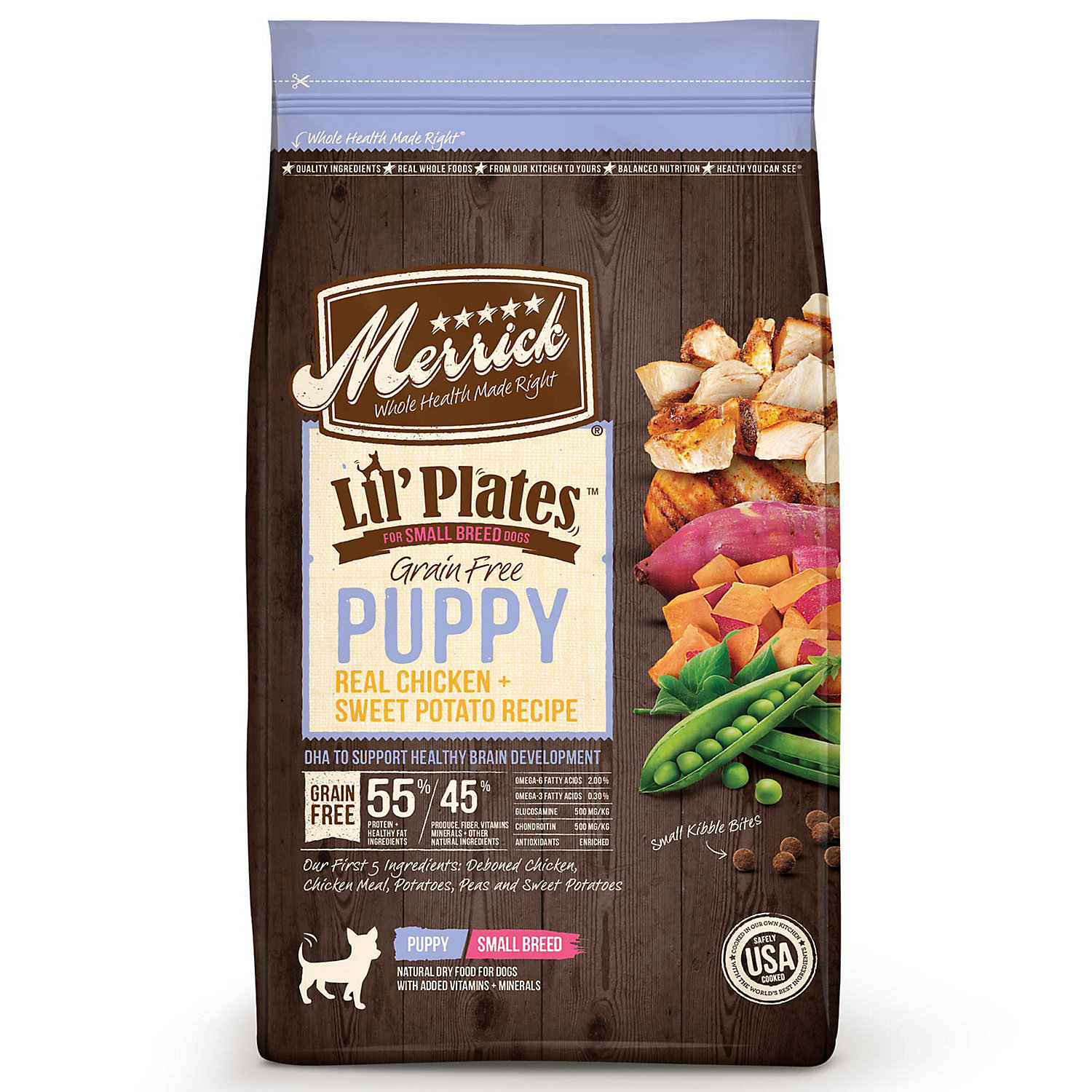 Merrick Lil' Plates Grain Free Real Chicken + Sweet Potato Small Breed Dry Puppy Food