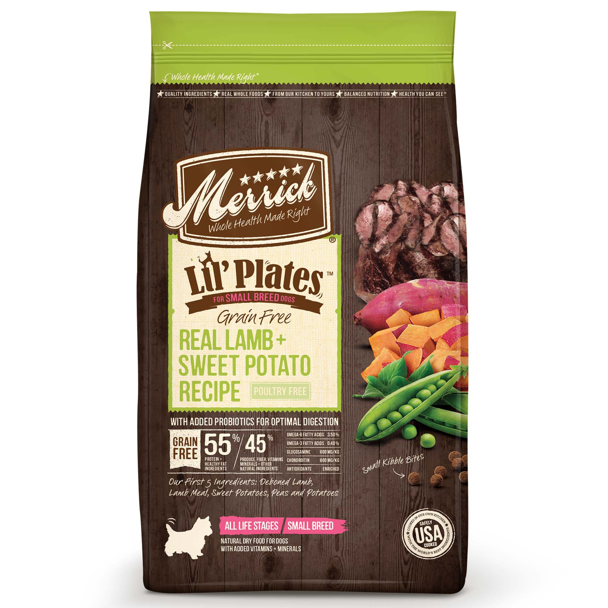 Merrick Lil' Plates Grain Free Real Lamb + Sweet Potato Small Breed Dry Dog Food, 4 lbs.