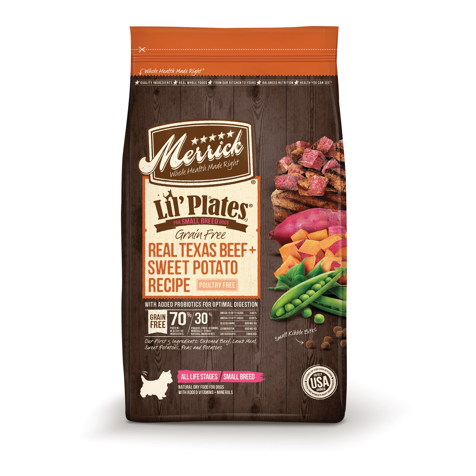 Merrick Lil' Plates Grain Free Real Texas Beef + Sweet Potato Small Breed Dry Dog Food, 20 lbs.