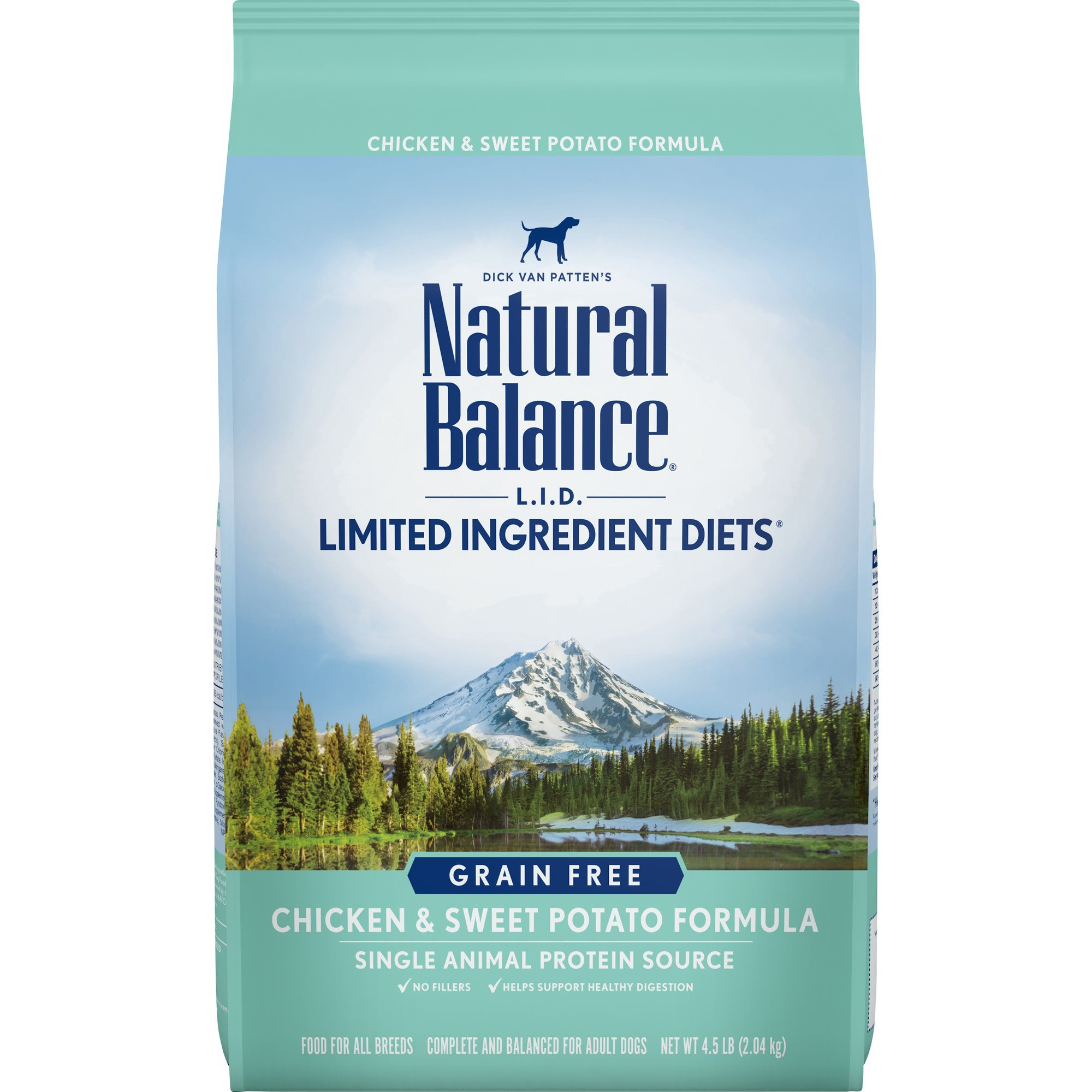 Natural Balance L.I.D. Limited Ingredient Diets Chicken & Sweet Potato Dog Food, 4.5 lbs.