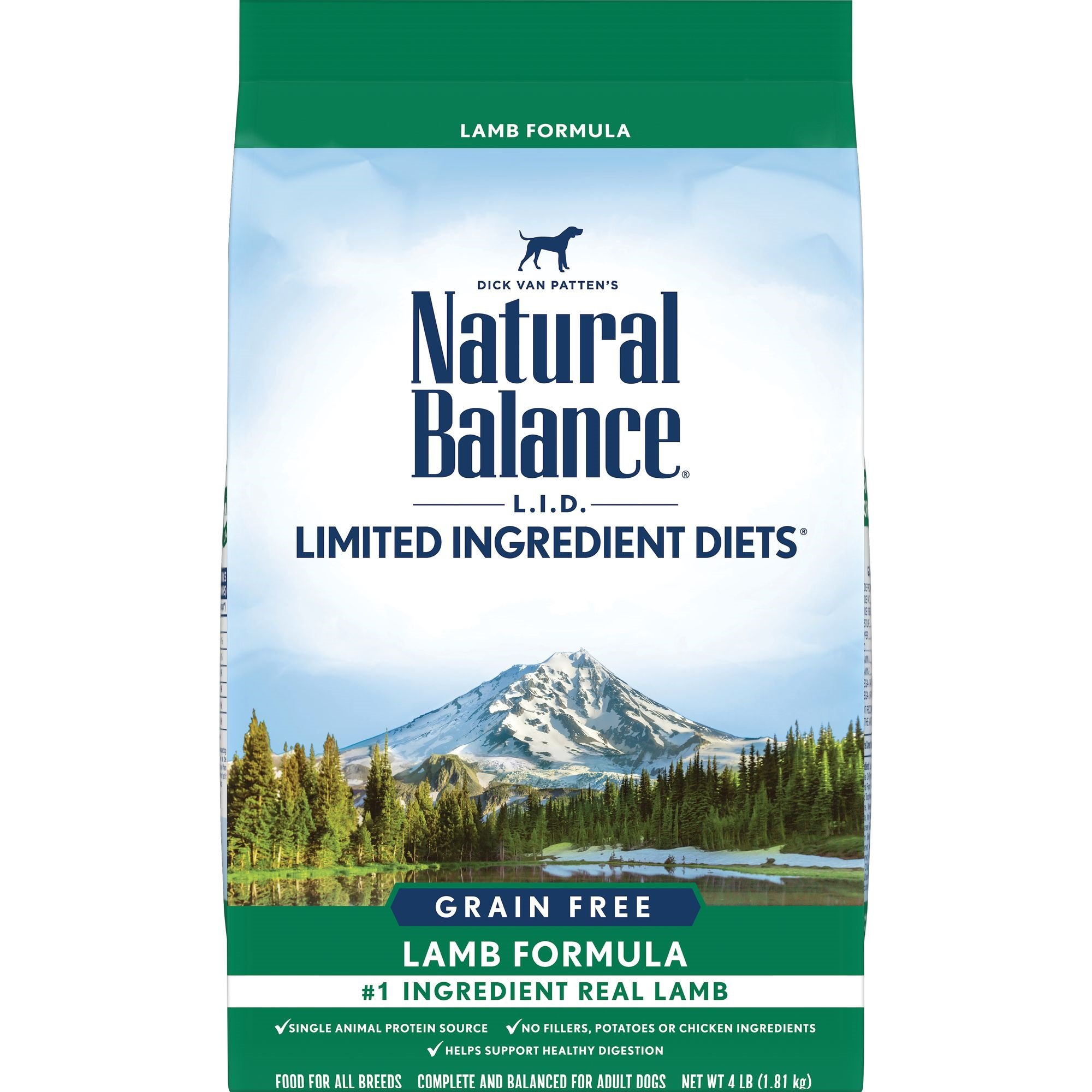 Natural Balance L.I.D. Limited Ingredient Diets Lamb Formula Dry Dog Food, 4 lbs.