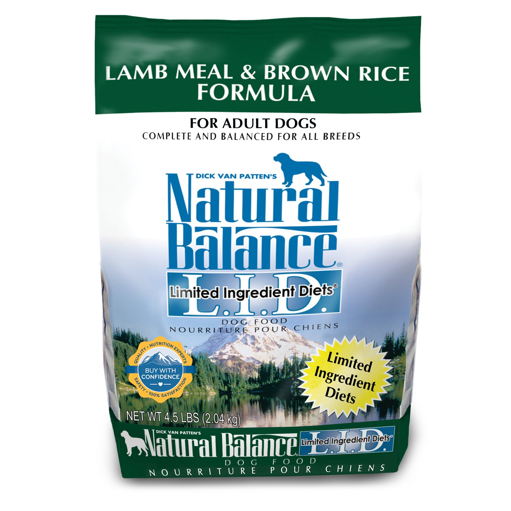 Natural Balance L.I.D. Limited Ingredient Diets Lamb Meal & Brown Rice Dog Food, 4.5 lbs.