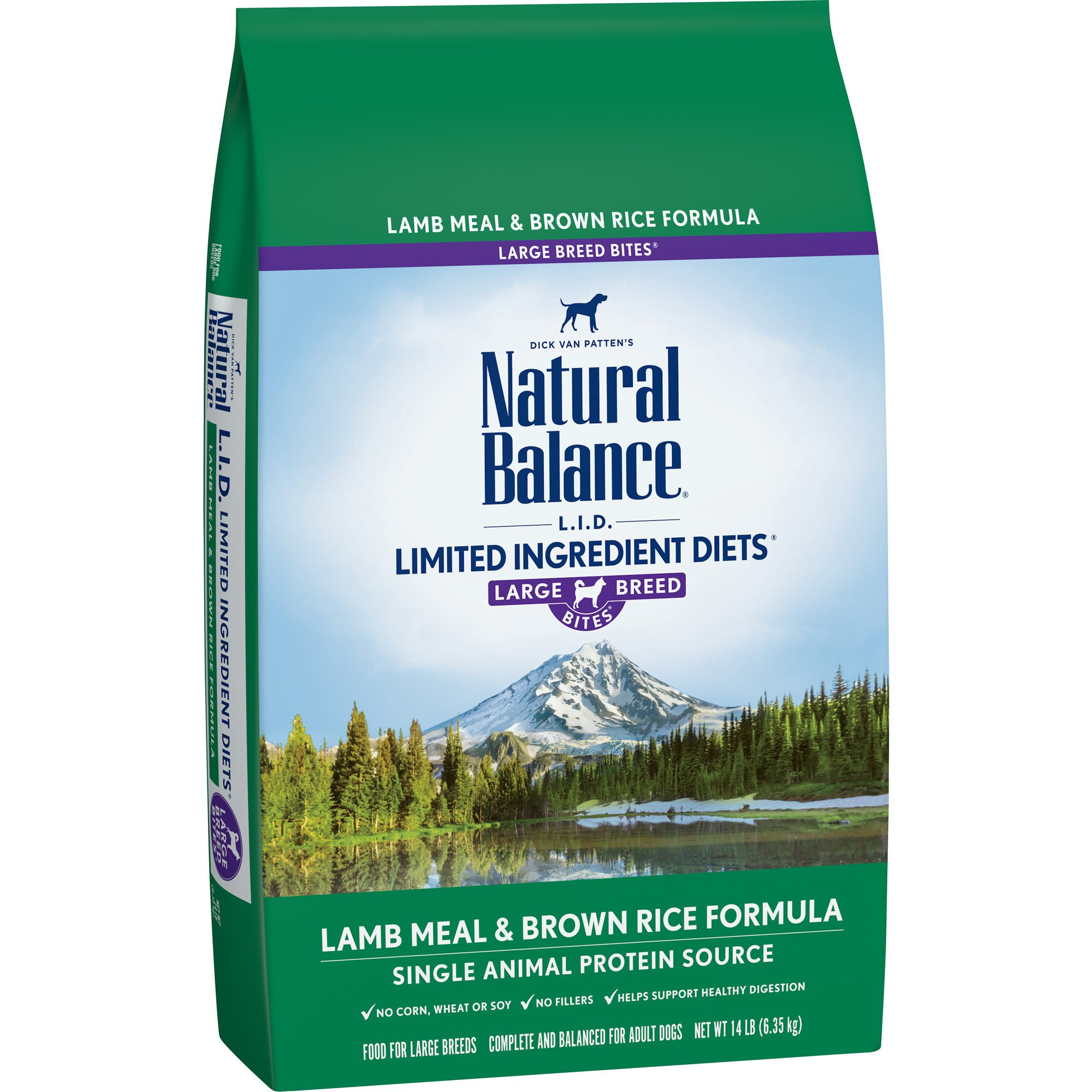Natural Balance L.I.D. Limited Ingredient Diets Lamb Meal & Brown Rice Formula Large Breed Dog Food, 14 lbs.