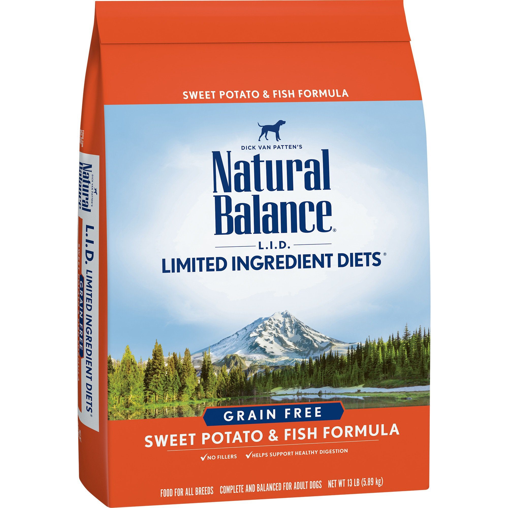 Natural Balance L.I.D. Limited Ingredient Diets Sweet Potato & Fish Dog Food, 13 lbs.