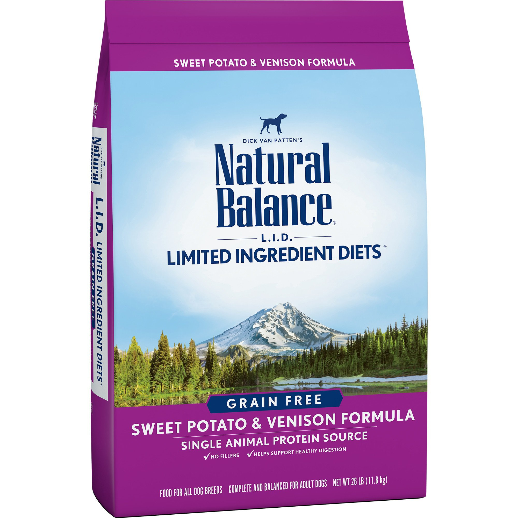 Natural Balance L.I.D. Limited Ingredient Diets Sweet Potato & Venison Grain Free Dog Food, 26 lbs.