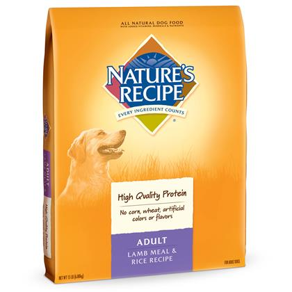 Nature's Recipe Adult Lamb Meal & Rice Dry Dog Food 15 lb