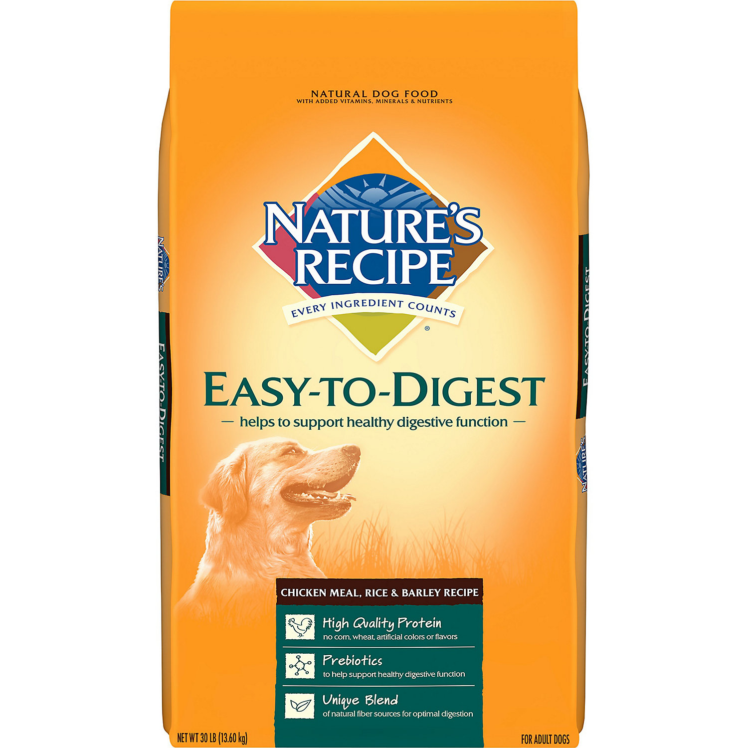 Nature's Recipe Easy to Digest Chicken Meal, Rice & Barley Dry Dog Food