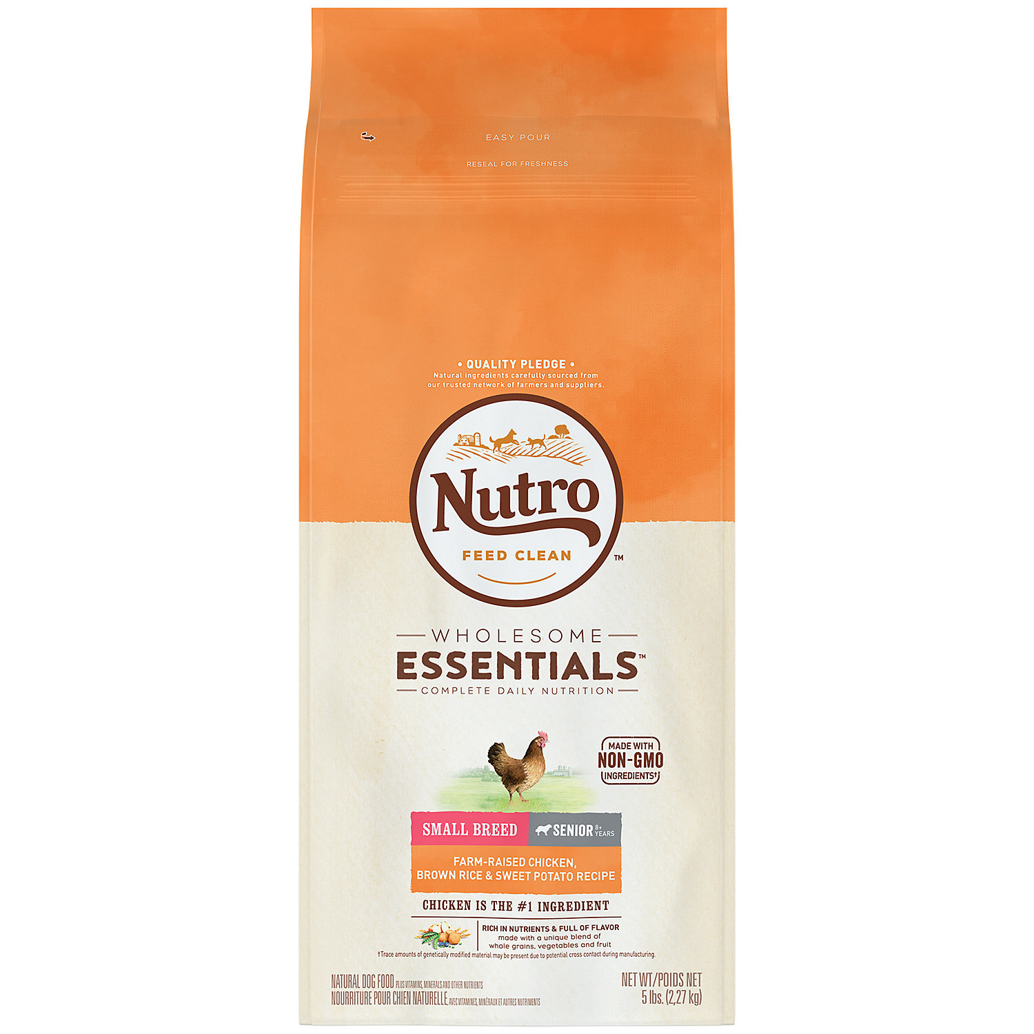 Nutro Wholesome Essentials Farm-Raised Chicken, Brown Rice & Sweet Potato Recipe Dry Small Breed Senior Dog Food