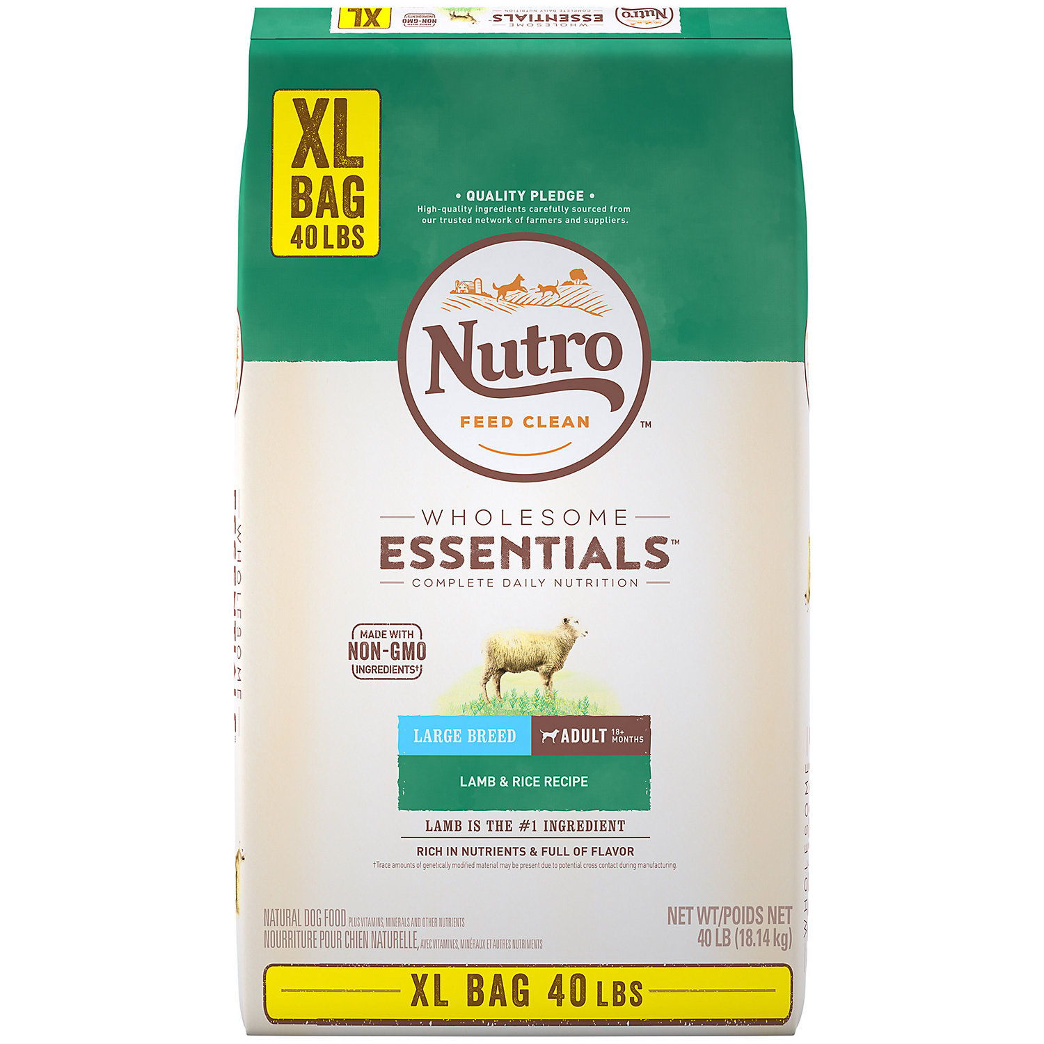 Nutro Wholesome Essentials Pasture-Fed Lamb & Rice Recipe Large Breed Adult Dry Dog Food