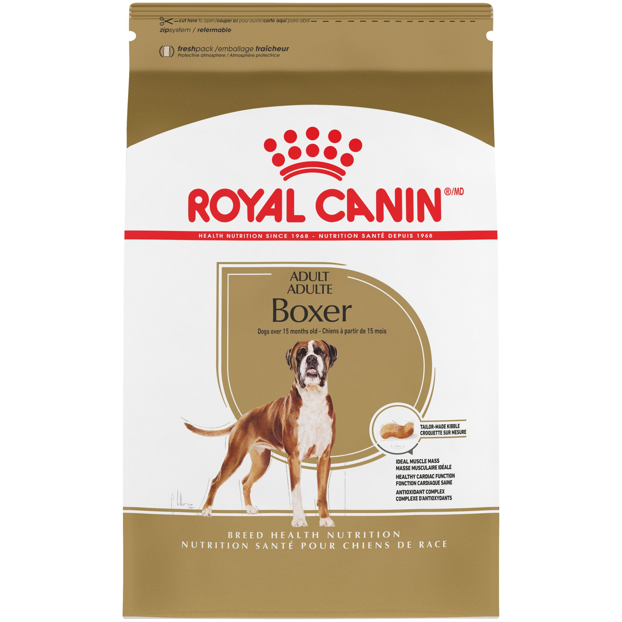 Royal Canin Breed Health Nutrition Boxer Adult Dry Dog Food, 17 lbs.