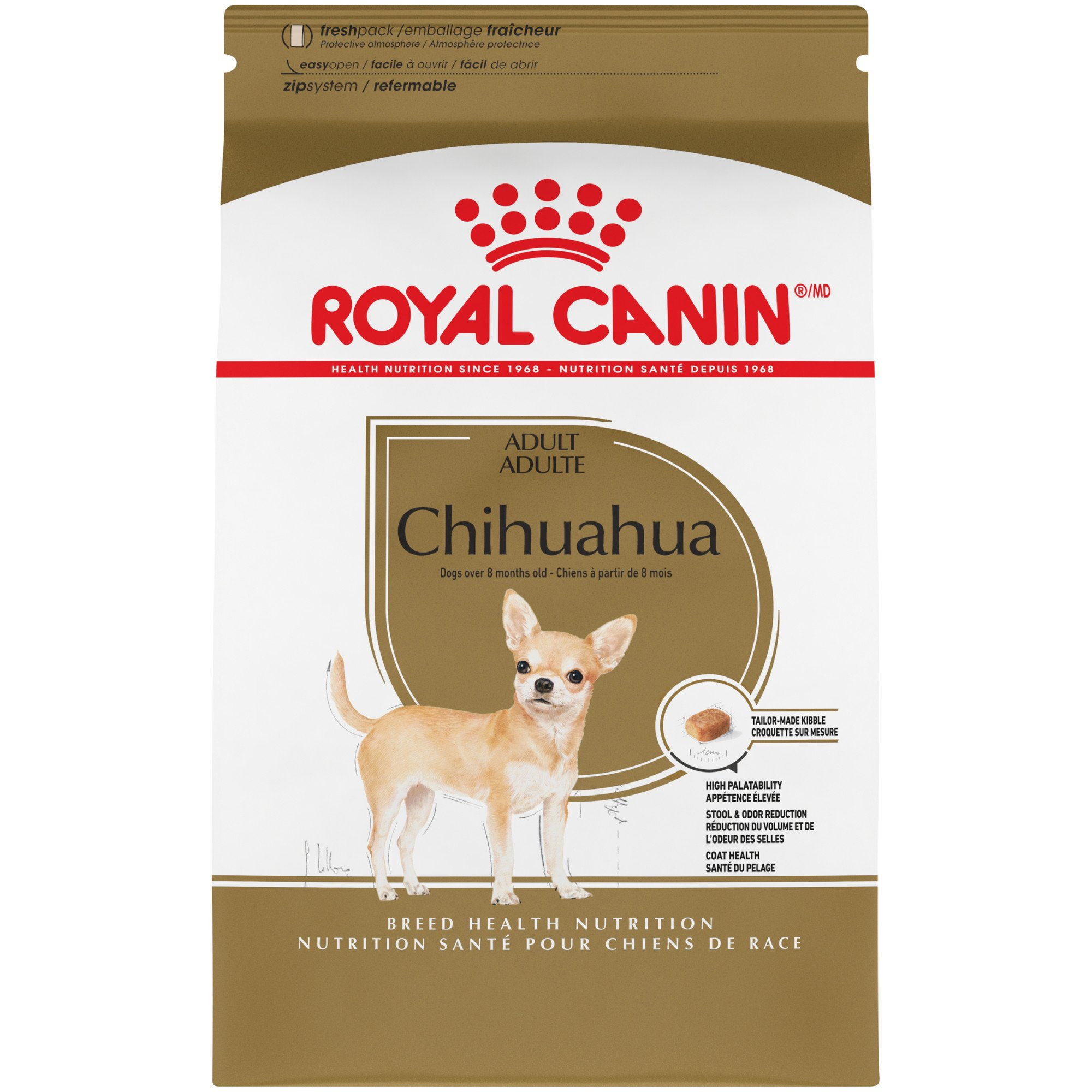 Royal Canin Breed Health Nutrition Chihuahua Adult Dry Dog Food, 10 lbs.