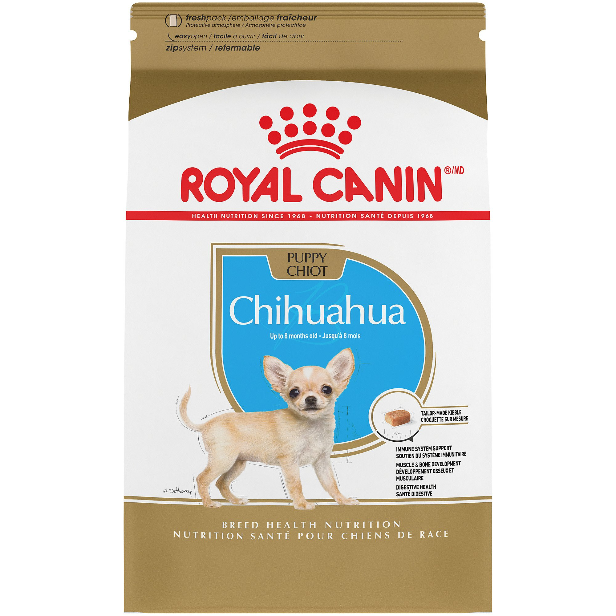 Royal Canin Breed Health Nutrition Chihuahua Puppy Dry Dog Food, 2.5 lbs.
