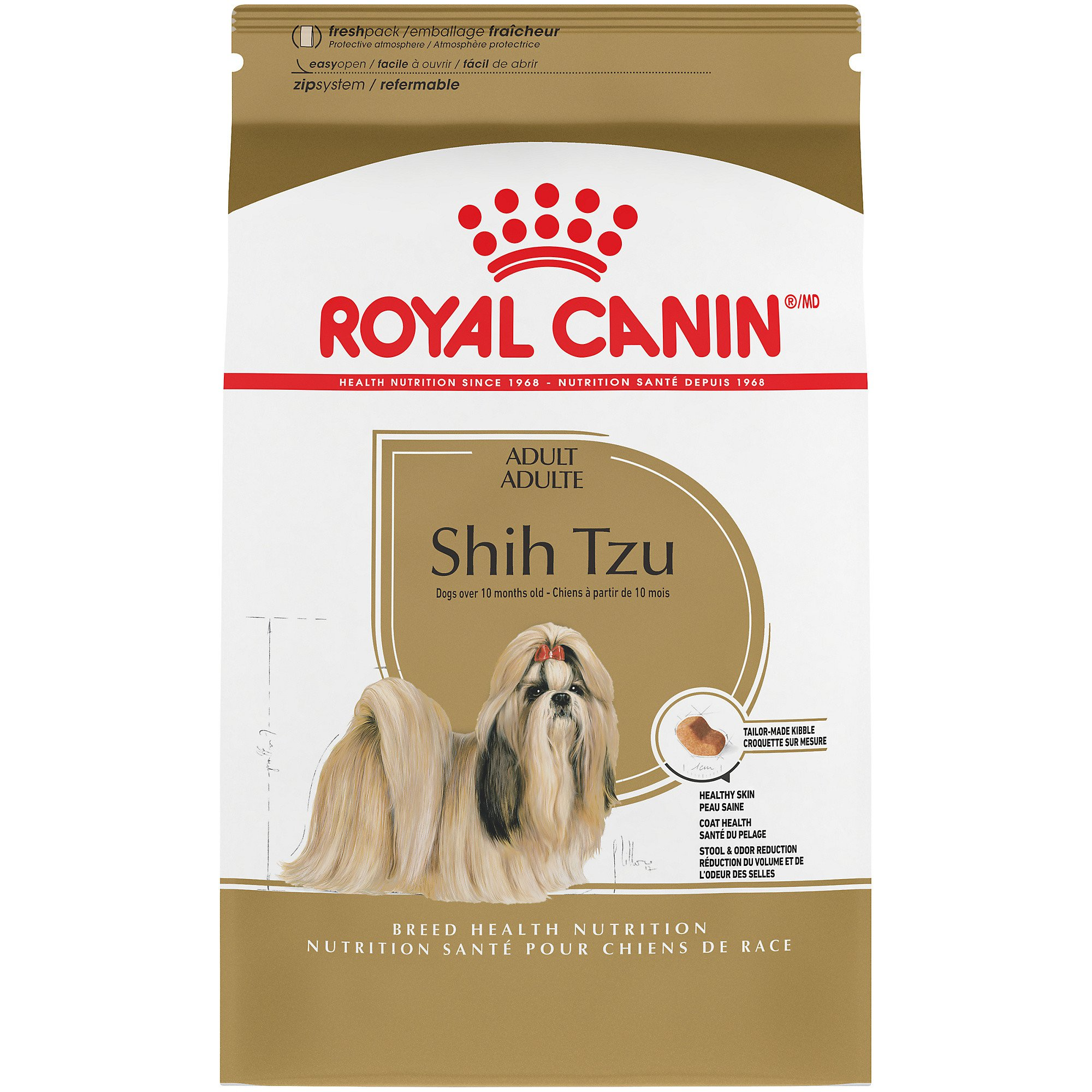 Royal Canin Breed Health Nutrition Shih Tzu Adult Dry Dog Food, 2.5 lbs.