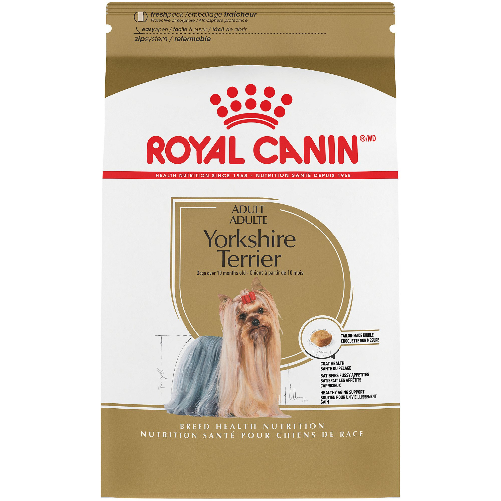 Royal Canin Breed Health Nutrition Yorkshire Terrier Adult Dry Dog Food, 10 lbs.