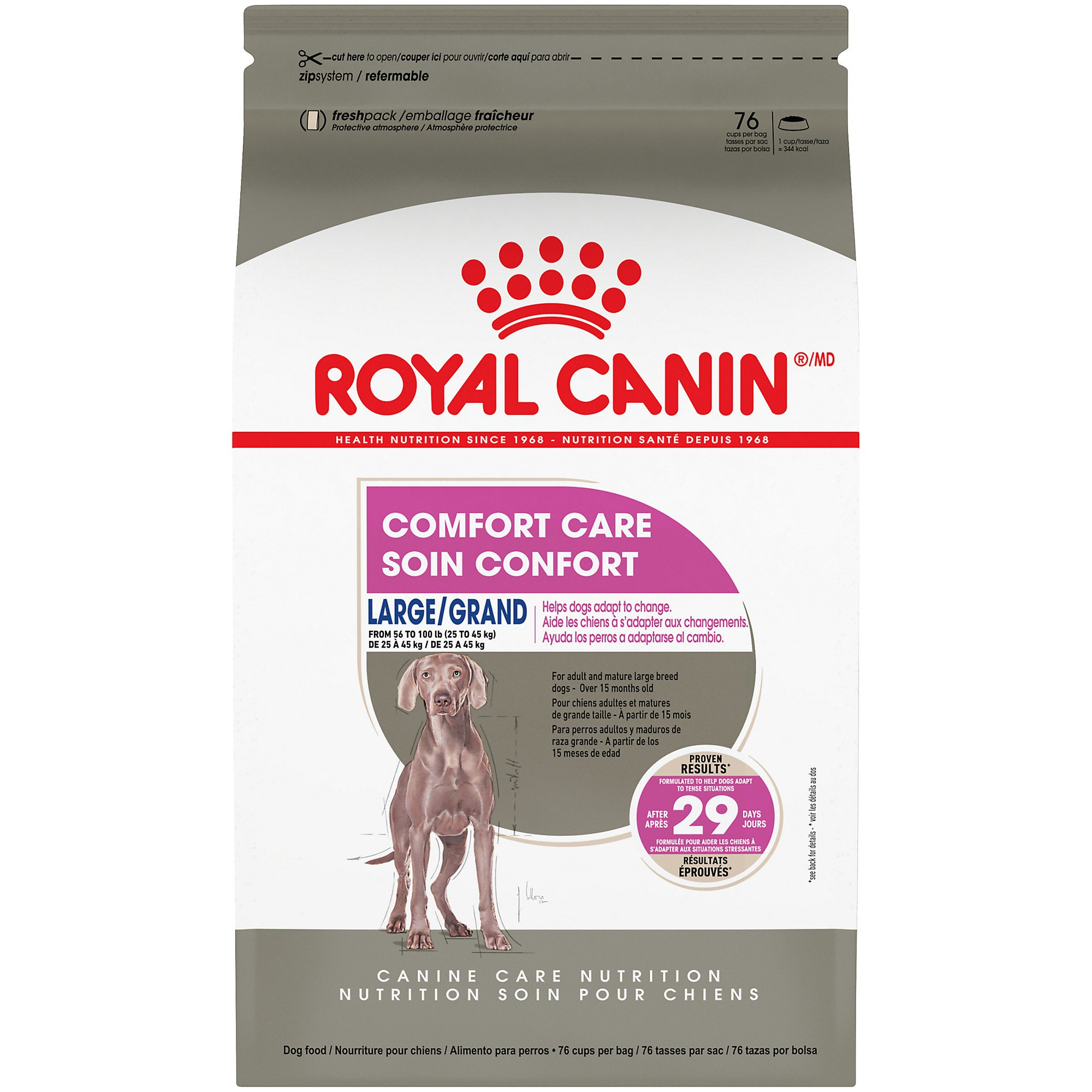 Royal Canin Large Comfort Care Dry Dog Food for Nervous Dogs, 30 lbs.