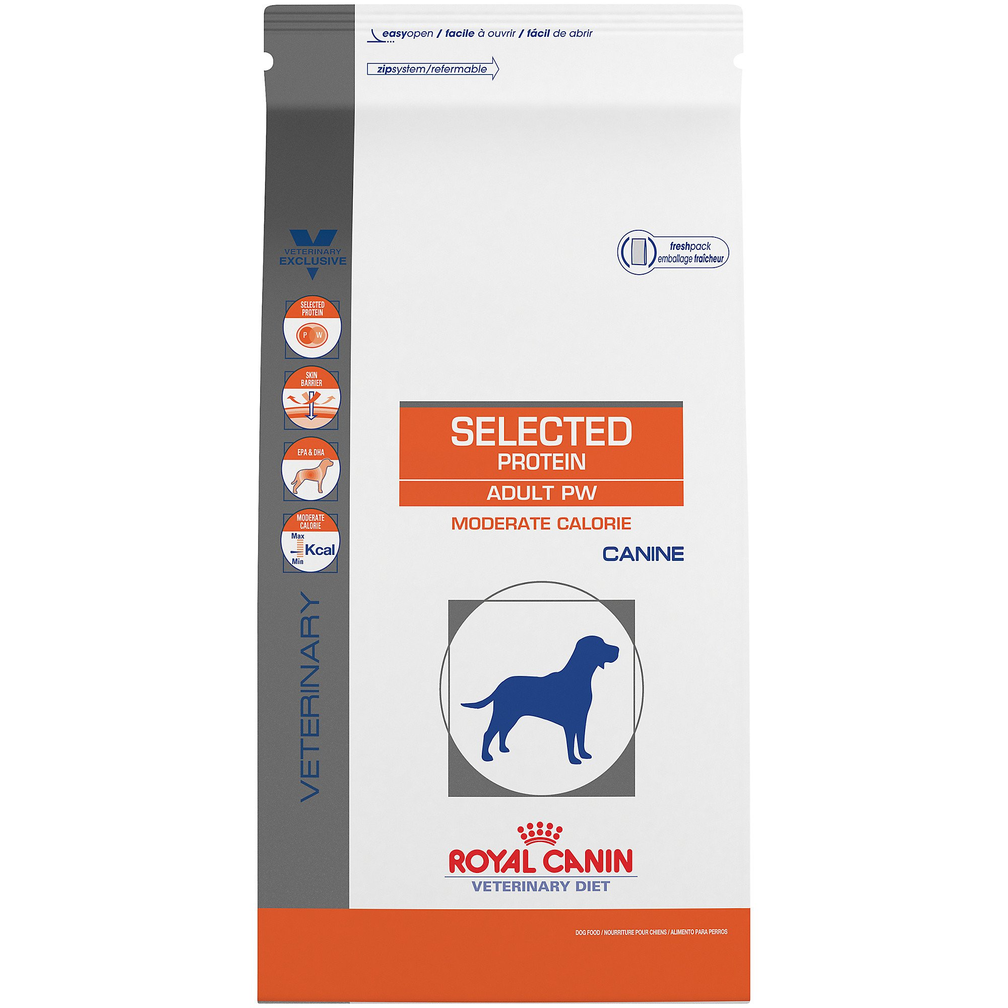 Royal Canin Veterinary Diet Canine Selected Protein Adult PW Moderate Calorie Dry Dog Food, 7.7 lbs.