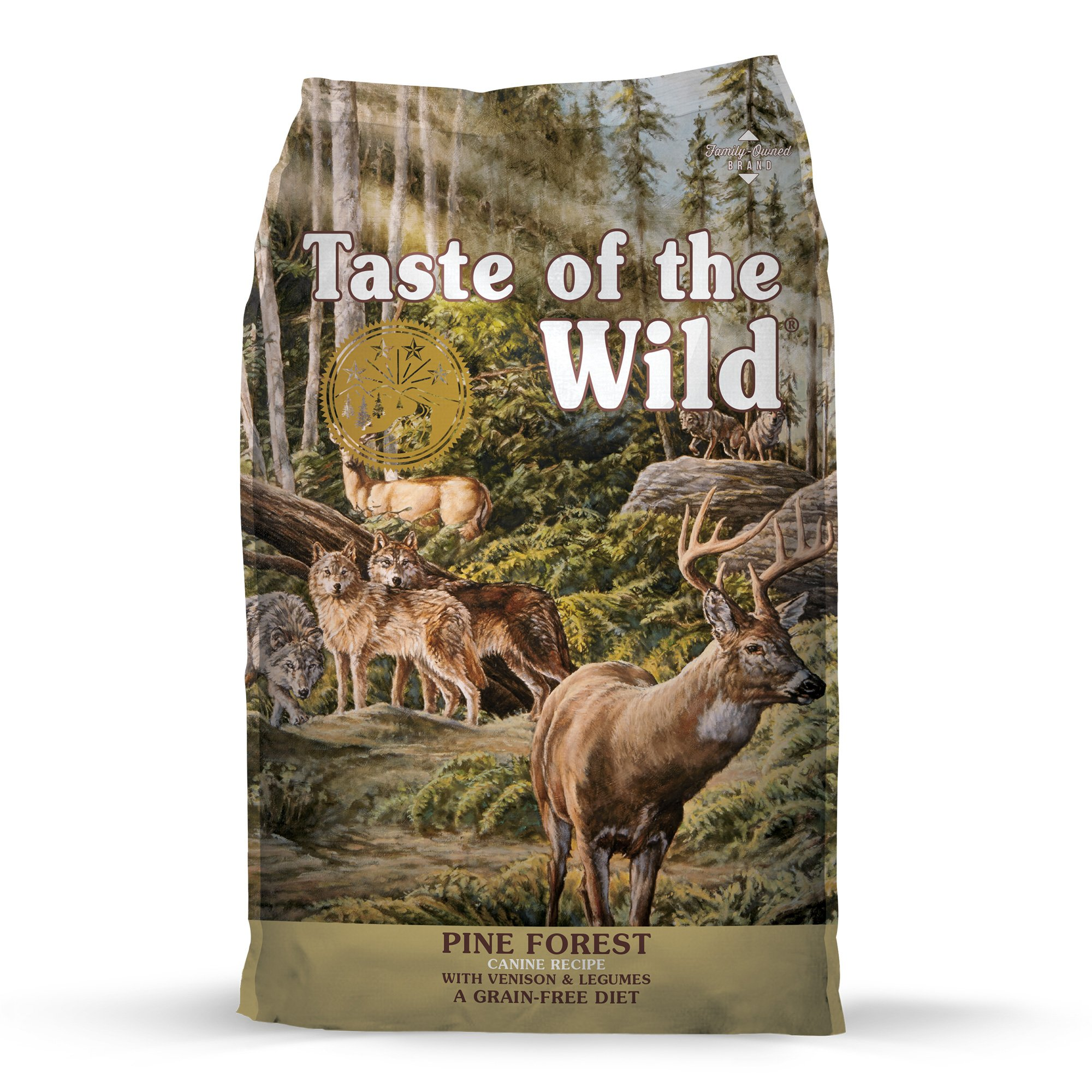 Taste of the Wild Pine Forest Grain-Free Roasted Venison Dry Dog Food, 5 lbs.