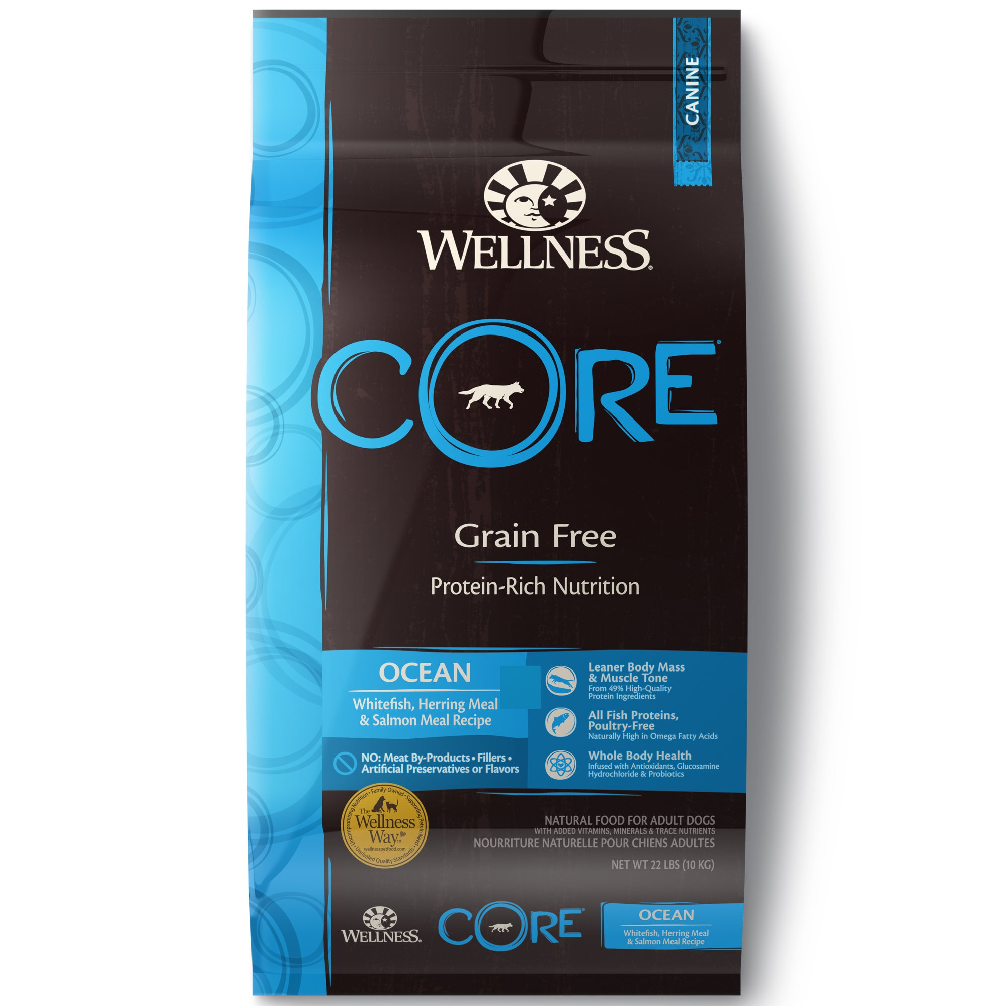 Wellness CORE Natural Grain Free Ocean Recipe Dry Dog Food, 22 lbs.