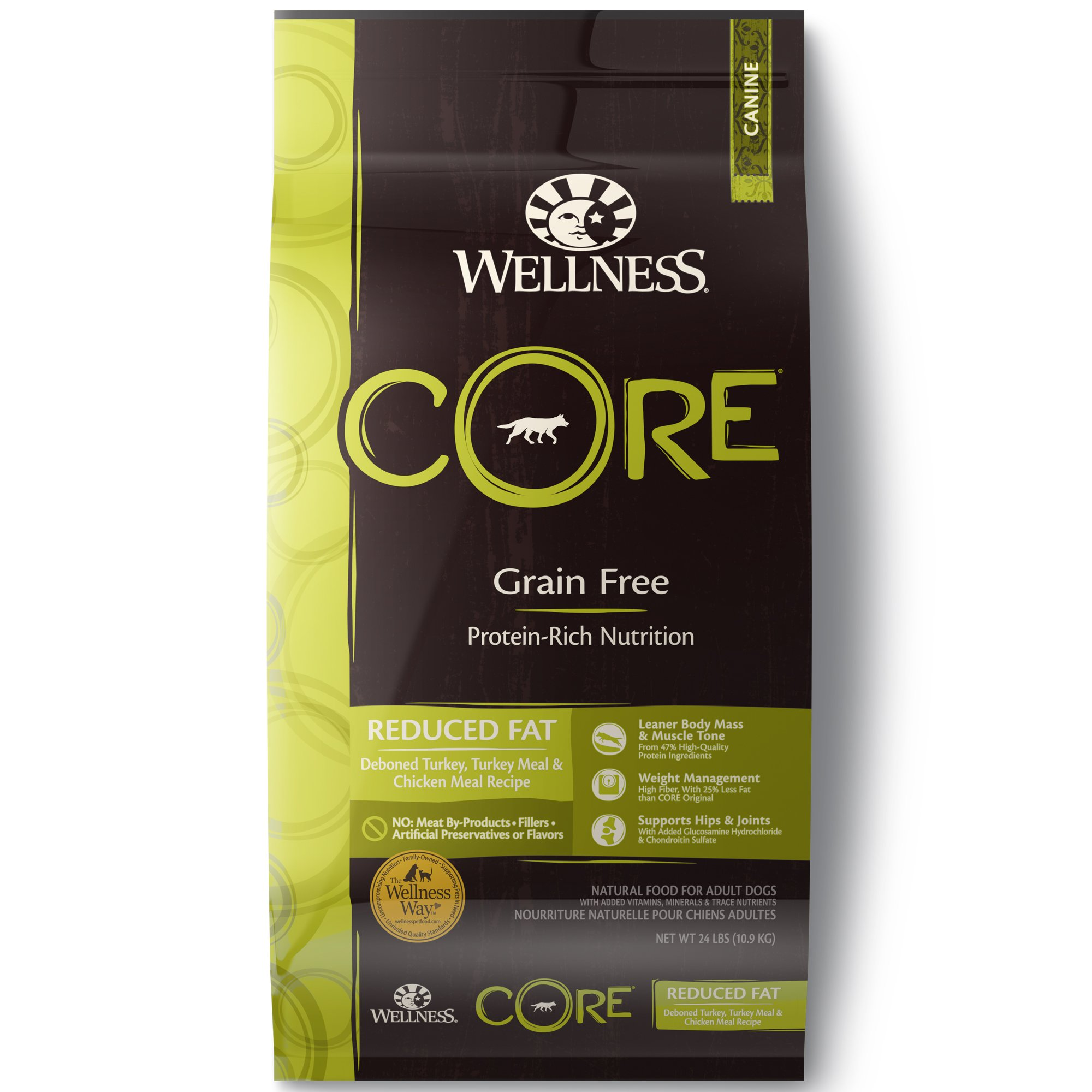 Wellness CORE Natural Grain Free Reduced Fat Dry Dog Food, 24 lbs.
