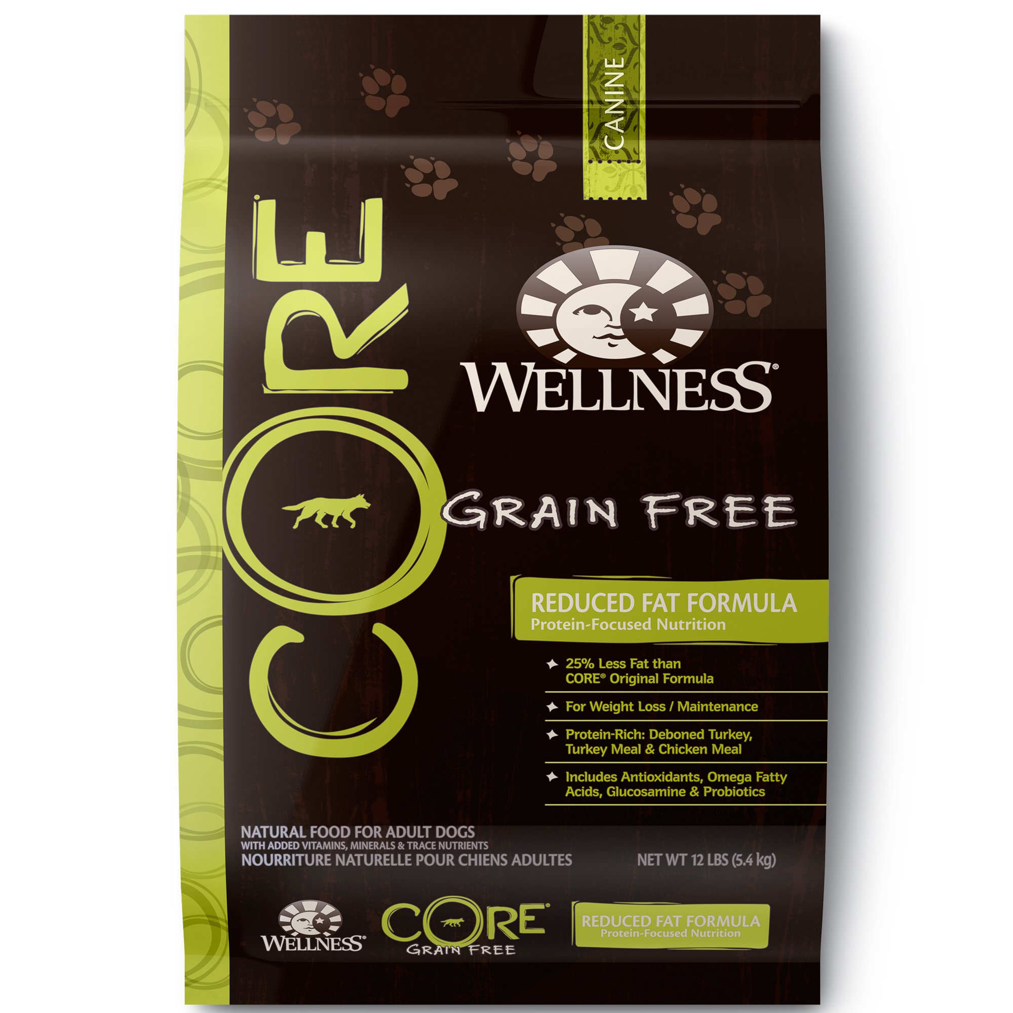 Wellness CORE Natural Grain Free Reduced Fat Recipe Dry Dog Food, 12 lbs.