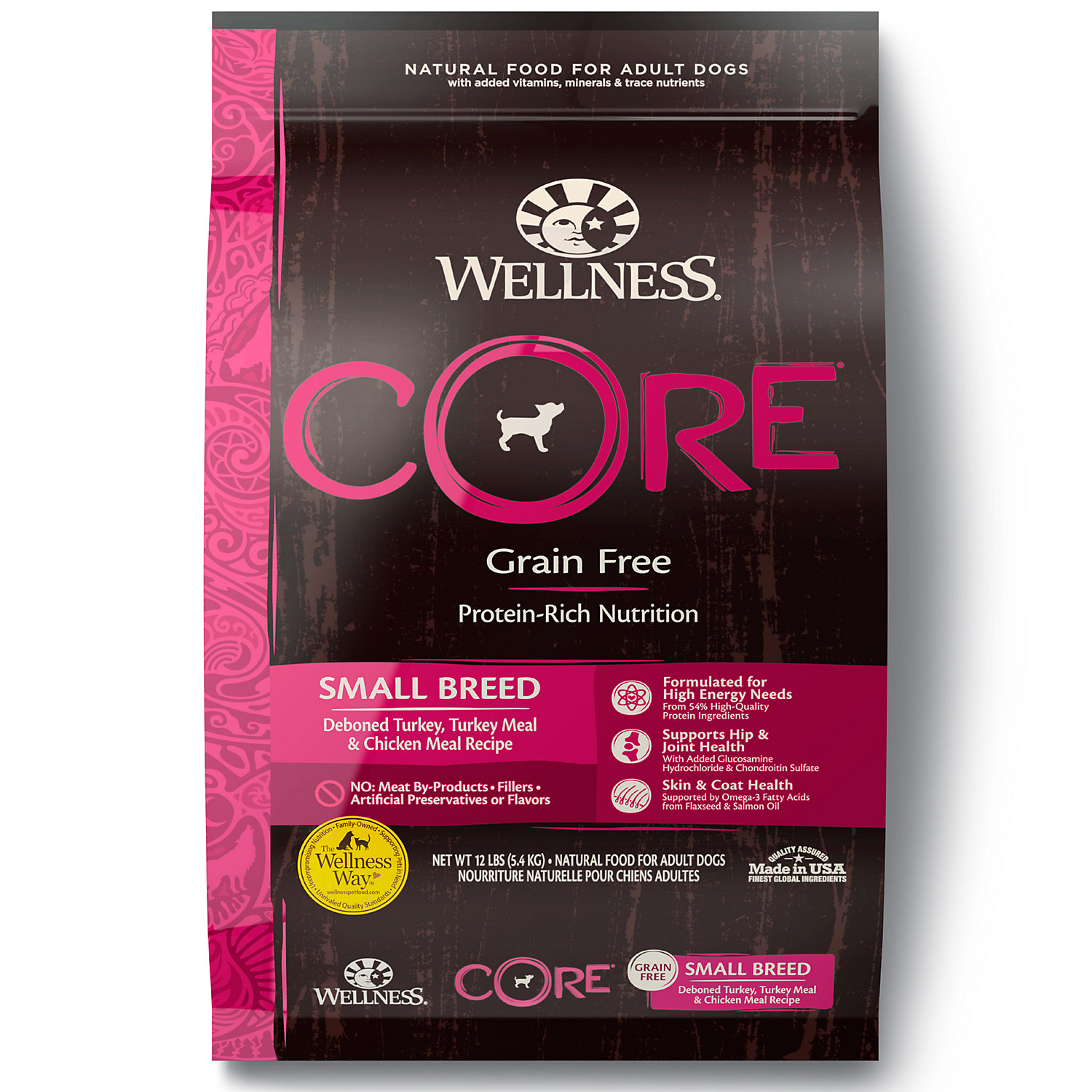 Wellness CORE Natural Grain Free Small Breed Health Recipe Dry Dog Food